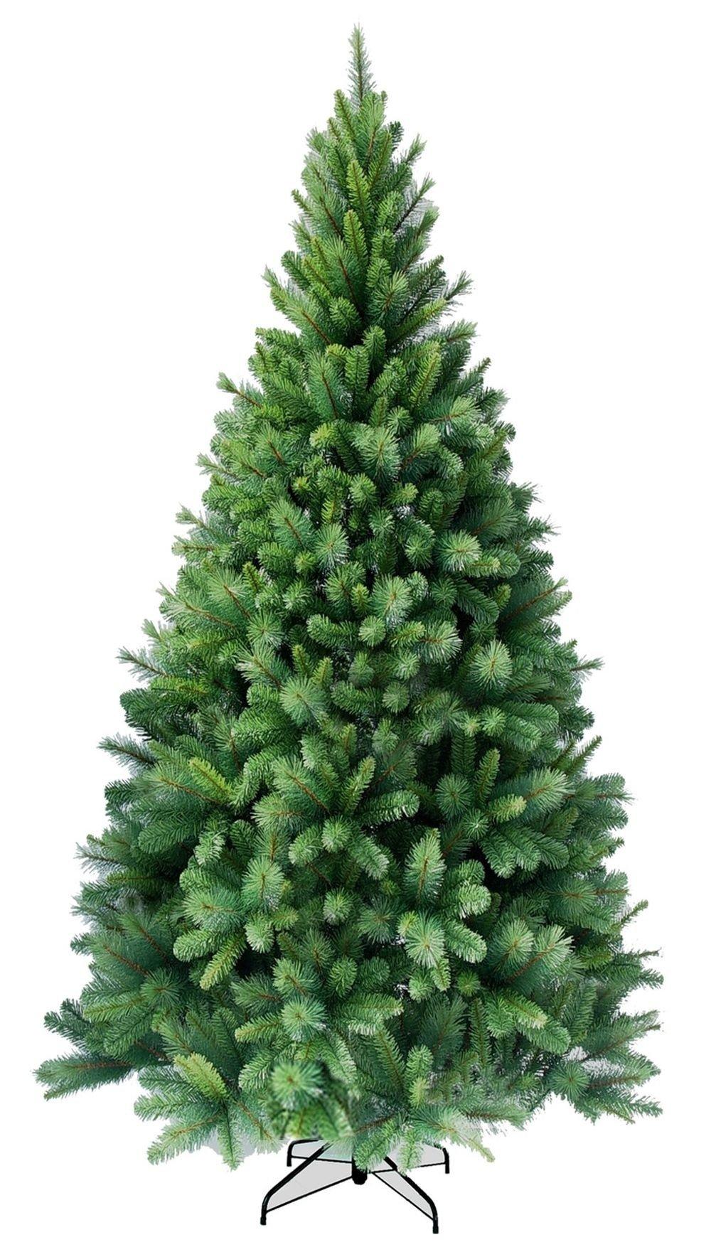 amieli-X-Mix-120-270-cm-Weihnachtsbaum-knstlich-mit-Christbaum-Stnder-7-Gren-whlbar-schwer-entflammbarer-PVC-Tannenbaum-fr-innen-und-auen-mit-2-verschiedenen-Nadelarten-inkl-Stnder