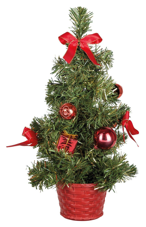 Idena-8582154-Deko-Tannenbaum-mit-10-LED-warm-wei-mit-6-Stunden-Timer-Funktion-Batterie-betrieben-fr-Weihnachten-Advent-als-Stimmungslicht-Christbaum-ca-35-cm