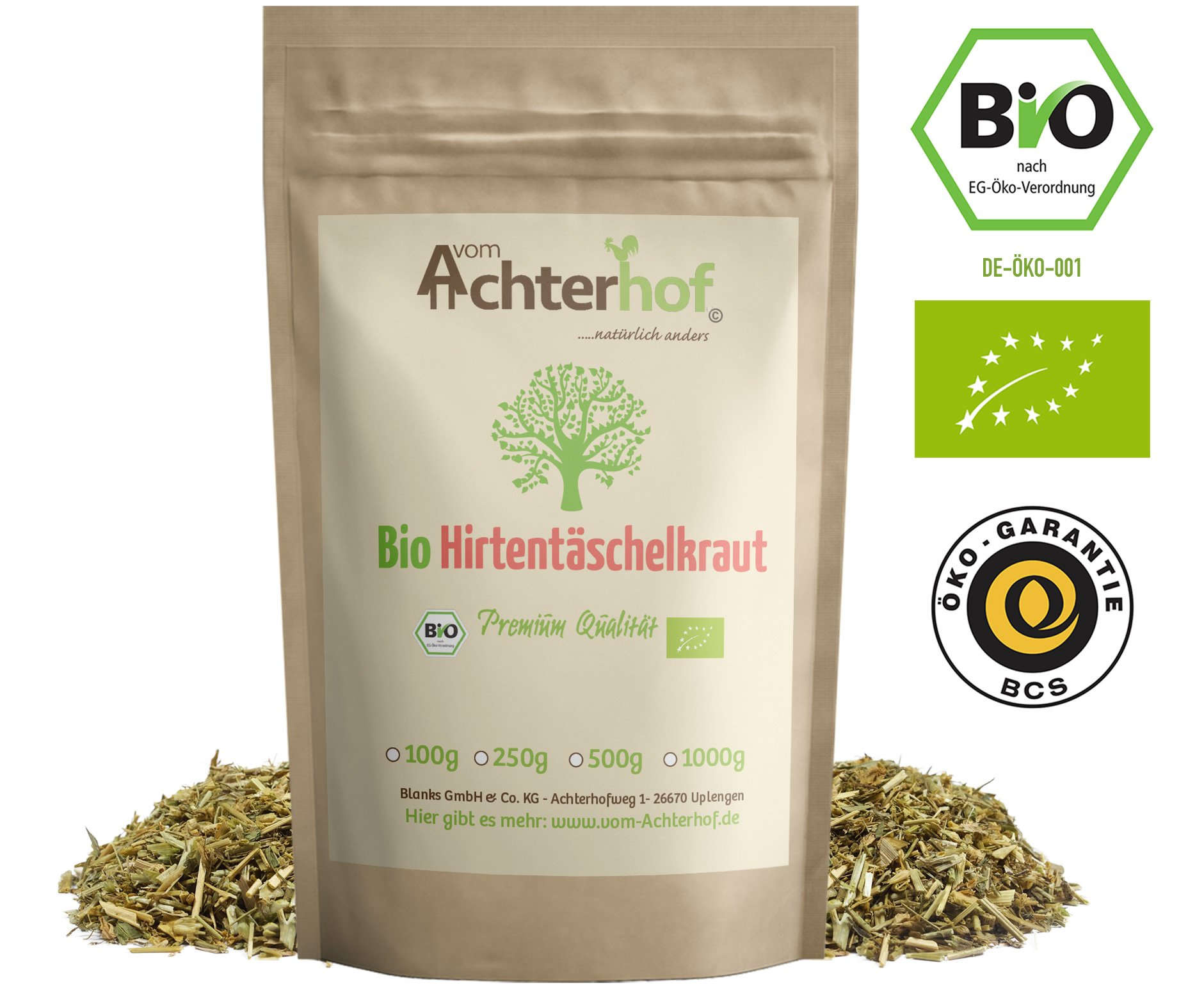 BIO-Hirtentschelkraut-getrocknet-geschnitten-100g-vom-Achterhof-Hirtentschel-Tee-Shepherds-purse-herb-organic