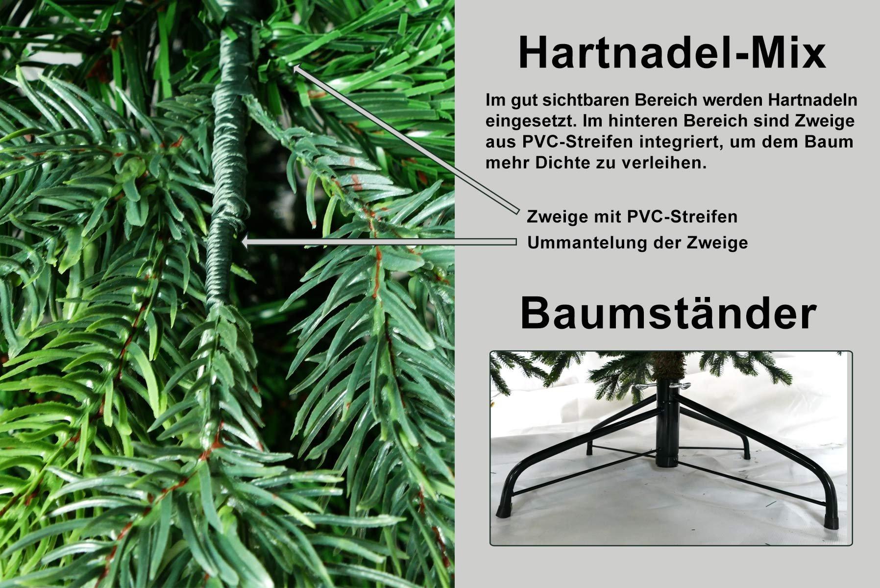 Gartenpirat-Knstlicher-Weihnachtsbaum-BonTree-Tanne-Spritzguss-PEPVC-Mix