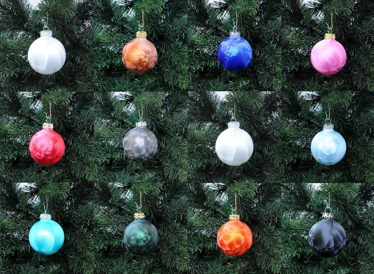 Thringer-Glas-Eislack-Christbaumkugeln-Wei-Weihnachtskugeln-4-5-6-7-8-cm