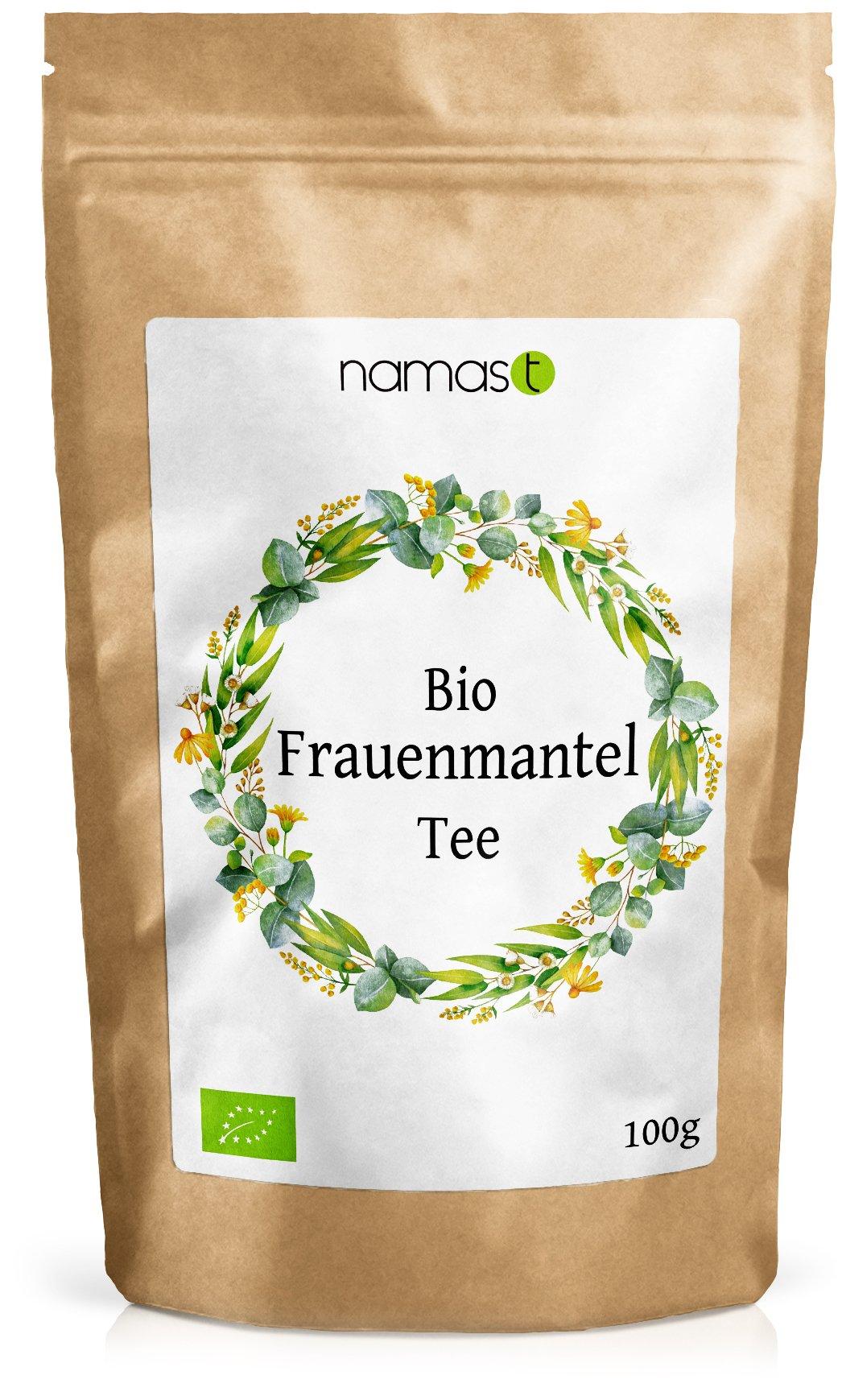 Frauenmanteltee-BIO-100g-Frauenmantel-in-100-biologischer-Spitzenqualitt-Loser-Tee-Frauenmantelkraut-alchemilla-vulgaris-abgefllt-und-kontrolliert-in-Deutschland-von-NamasT