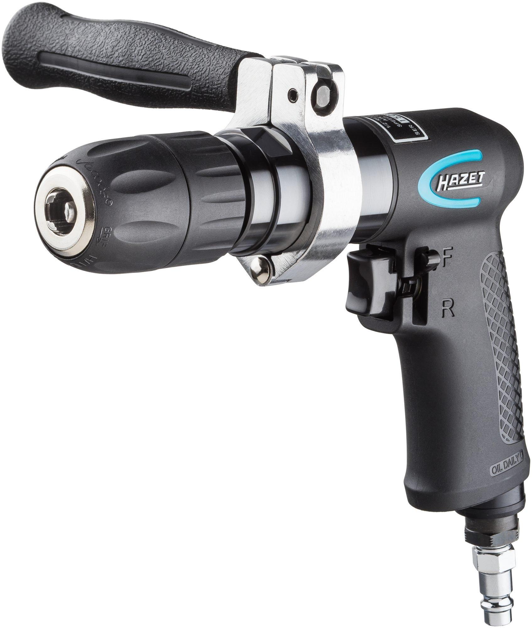 Hazet-Druckluft-Bohrmaschine-1-13-mm-Schnellspannfutter-handliches-Werkzeug-fr-Karosseriearbeiten-und-Industrie-Leistung-373-W-9030P-1