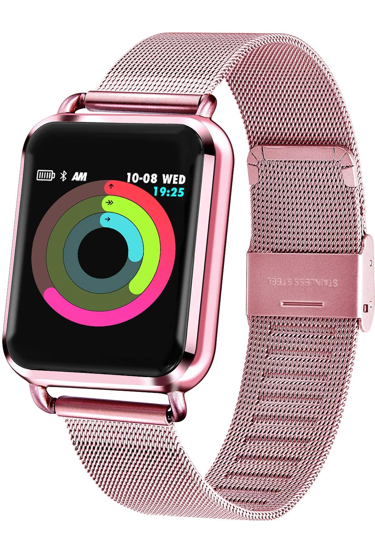 Smartwatch-Fitness-Tracker-Armbanduhr-Pulsmesser-Schrittzhler-Kalorienzhler-Schlaftracker-Sportuhr-Touchscreen-Aktivittstracker-fr-Damen-Herren