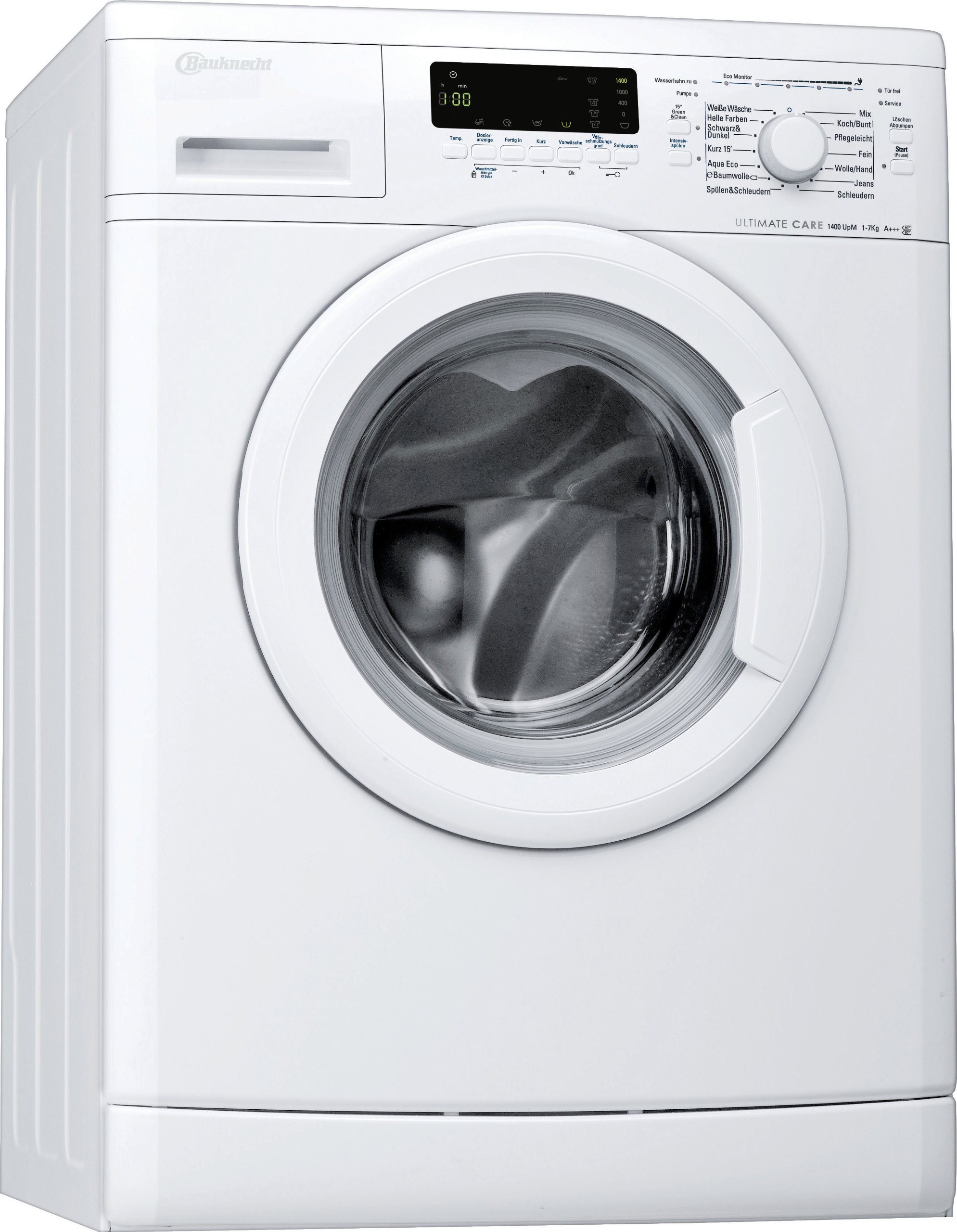 Bauknecht-WA-Eco-Star-74-PS-Waschmaschine-Frontlader-A-B-1400-UpM-7-kg-Wei-UltimateCare-Schontrommel-ProSilentMotor