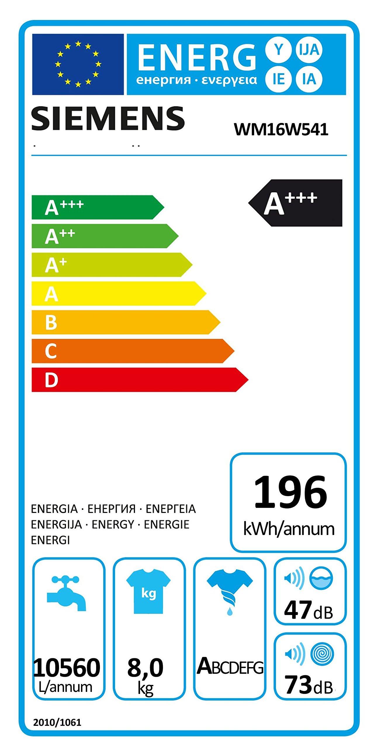 Siemens-iQ700-WM16W541-Waschmaschine-800-kg-A-196-kWh-1600-Umin-Schnellwaschprogramm-Nachlegefunktion-aquaStop-mit-lebenslanger-Garantie