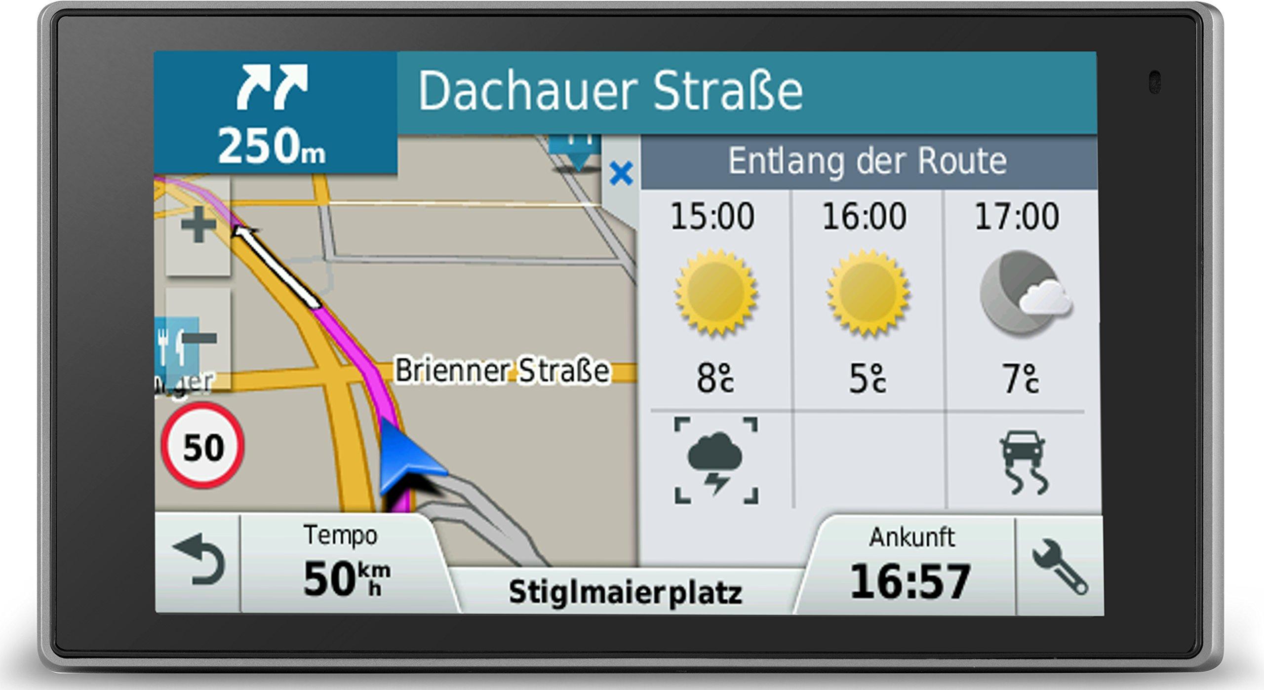 Garmin-DriveLuxe-50-LMT-PKW-Navi-127cm-5-Zoll-Touch-Glasdisplay-lebenslange-Kartenupdates-Verkehrsfunklizenz-Premium-Design