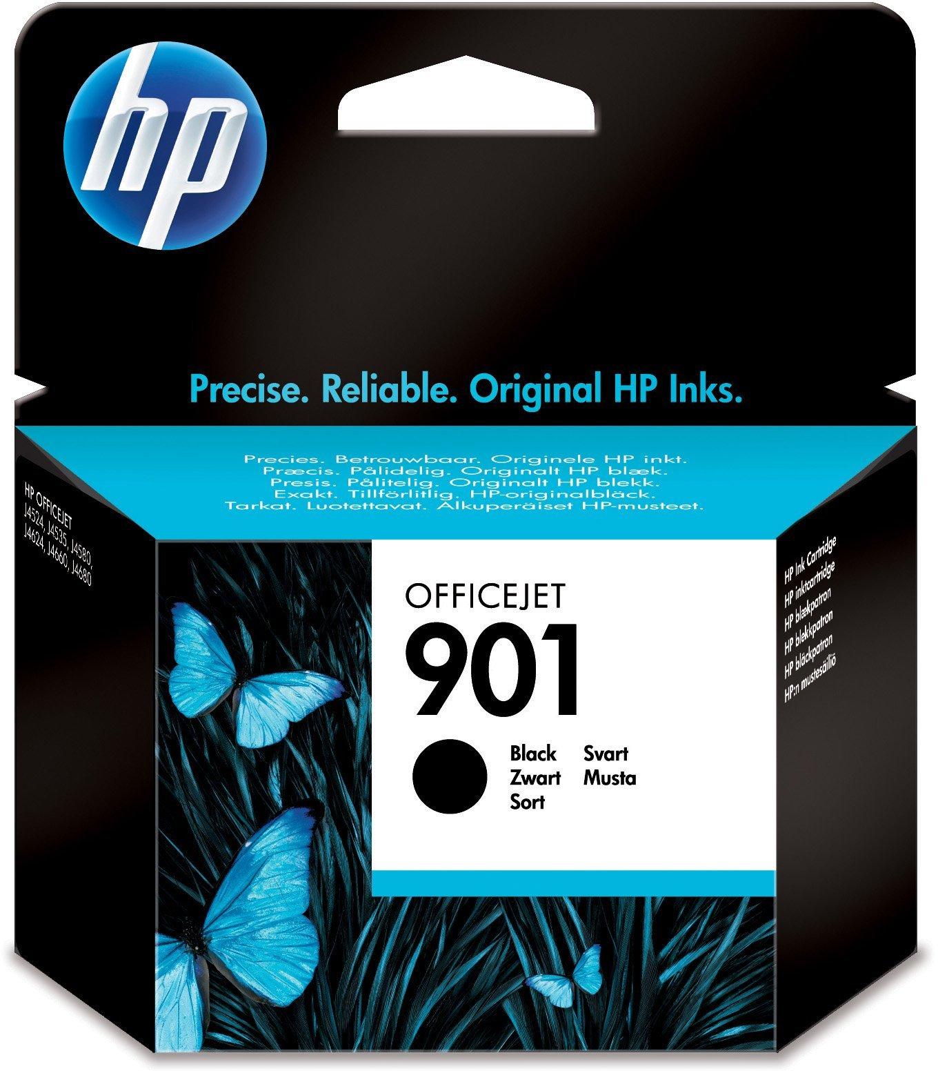 HP-901-Schwarz-Farbe-Original-Druckerpatrone-fr-HP-Officejet