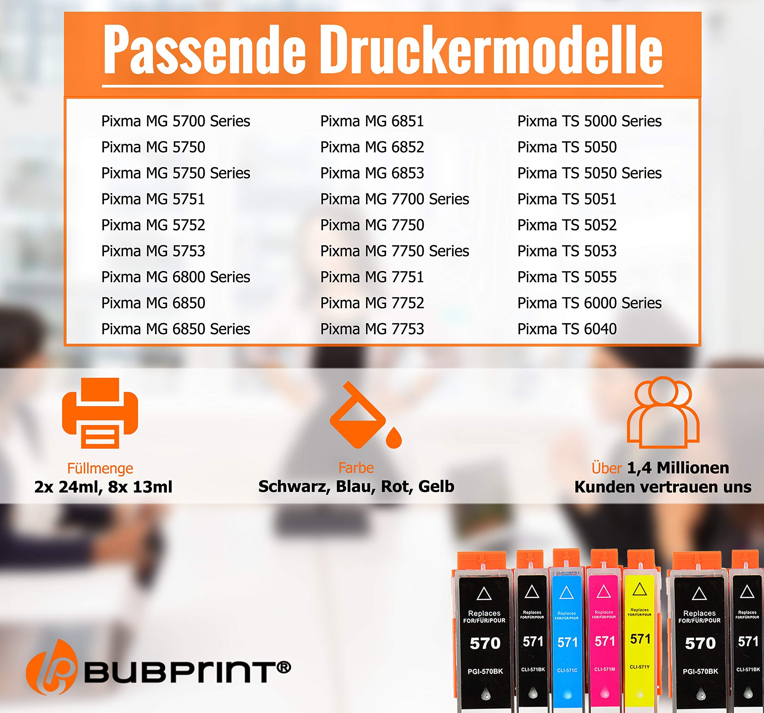 Bubprint-10-Druckerpatronen-kompatibel-fr-Canon-PGI-570XL-CLI-571XL-fr-Pixma-MG5750-MG5751-MG7750-TS5050-TS5051-TS6050-TS6051-TS8050-TS8051-TS9050