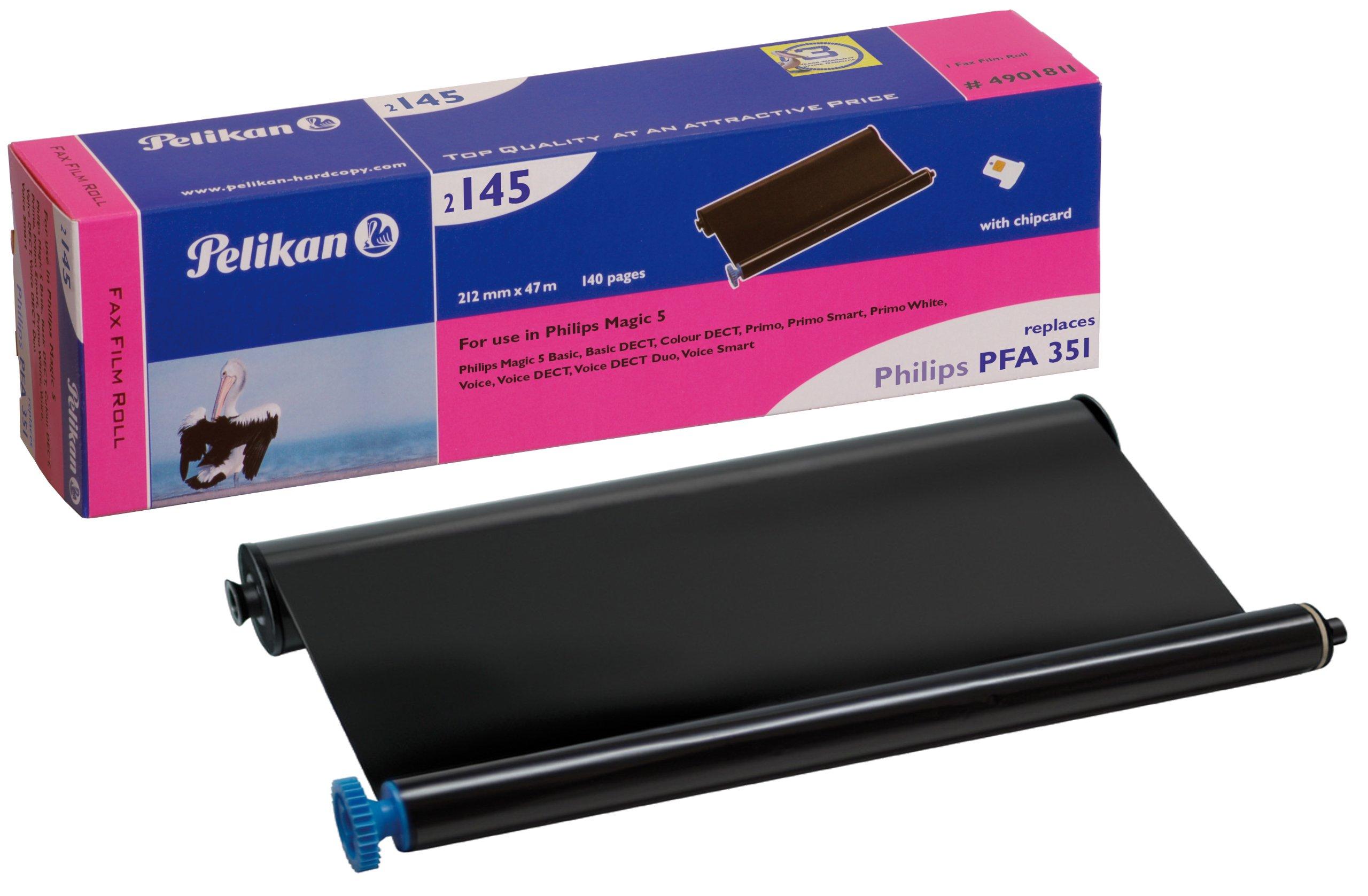 Pelikan-2145-Thermotransfer-Rolle-ersetzt-PFA-351-fr-Philips-Magic-5-212-mm-x-47-m-schwarz