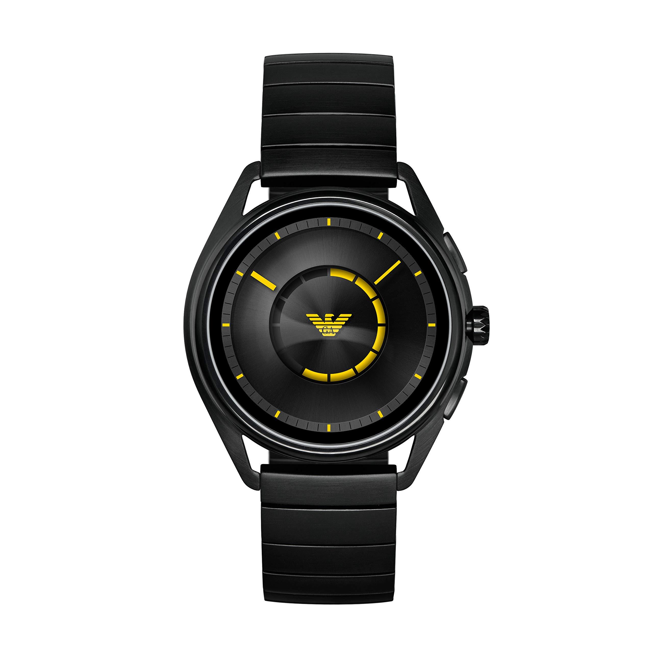 Emporio-Armani-Herren-Smartwatch-mit-Edelstahl-Armband-ART5007