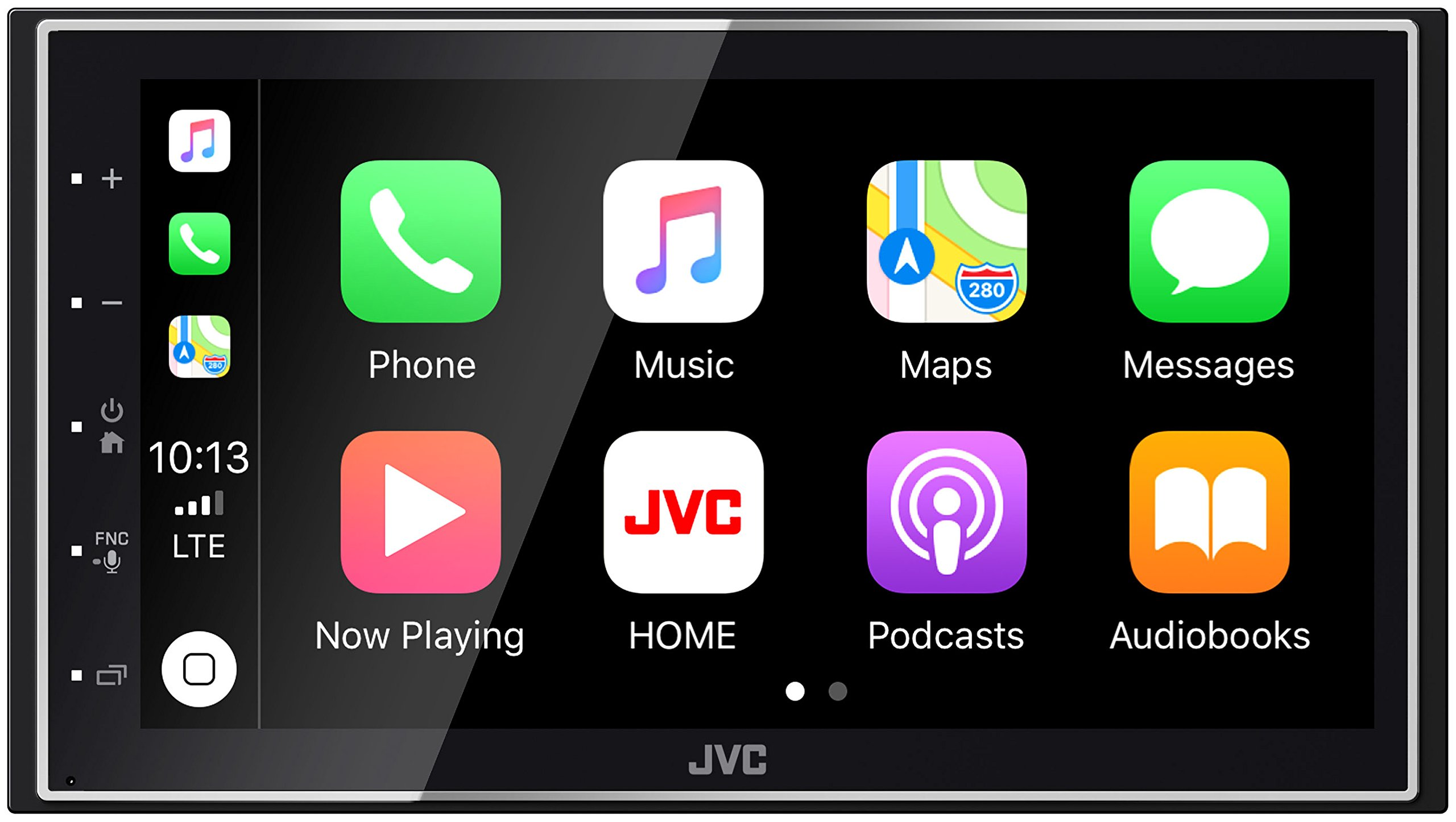 JVC-KW-M745DBT-Digital-Media-Receiver-mit-173-cm-kapazitivem-Touch-Panel-DAB-und-Bluetooth-Schwarz