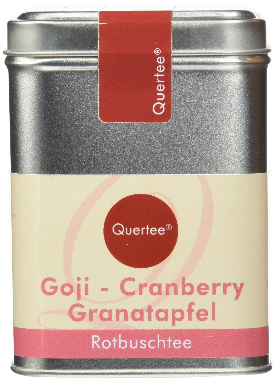 Quertee-Rotbuschtee-Goji-Cranberry-Granatapfel-in-einer-Teedose-110-g-Loser-Tee-1er-Pack-1-x-110-g
