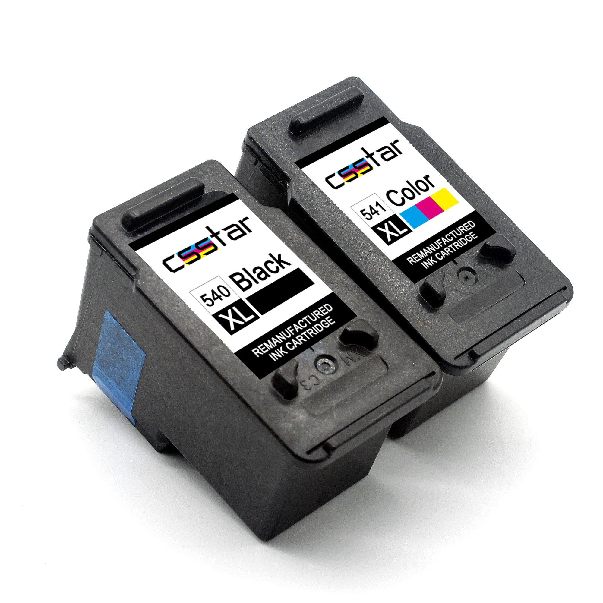 CSSTAR-Wiederaufbereitet-Druckerpatronen-Ersatz-fr-PG-540XL-CL-541XL-fr-Canon-Pixma-MG4250-MG3650-MX535-MG3550-MX395-MG3500-MG3250-MX375-MG3600-MX455-MX435-MG3150-MX515-MG2250-Drucker-Schwarz-Farbe