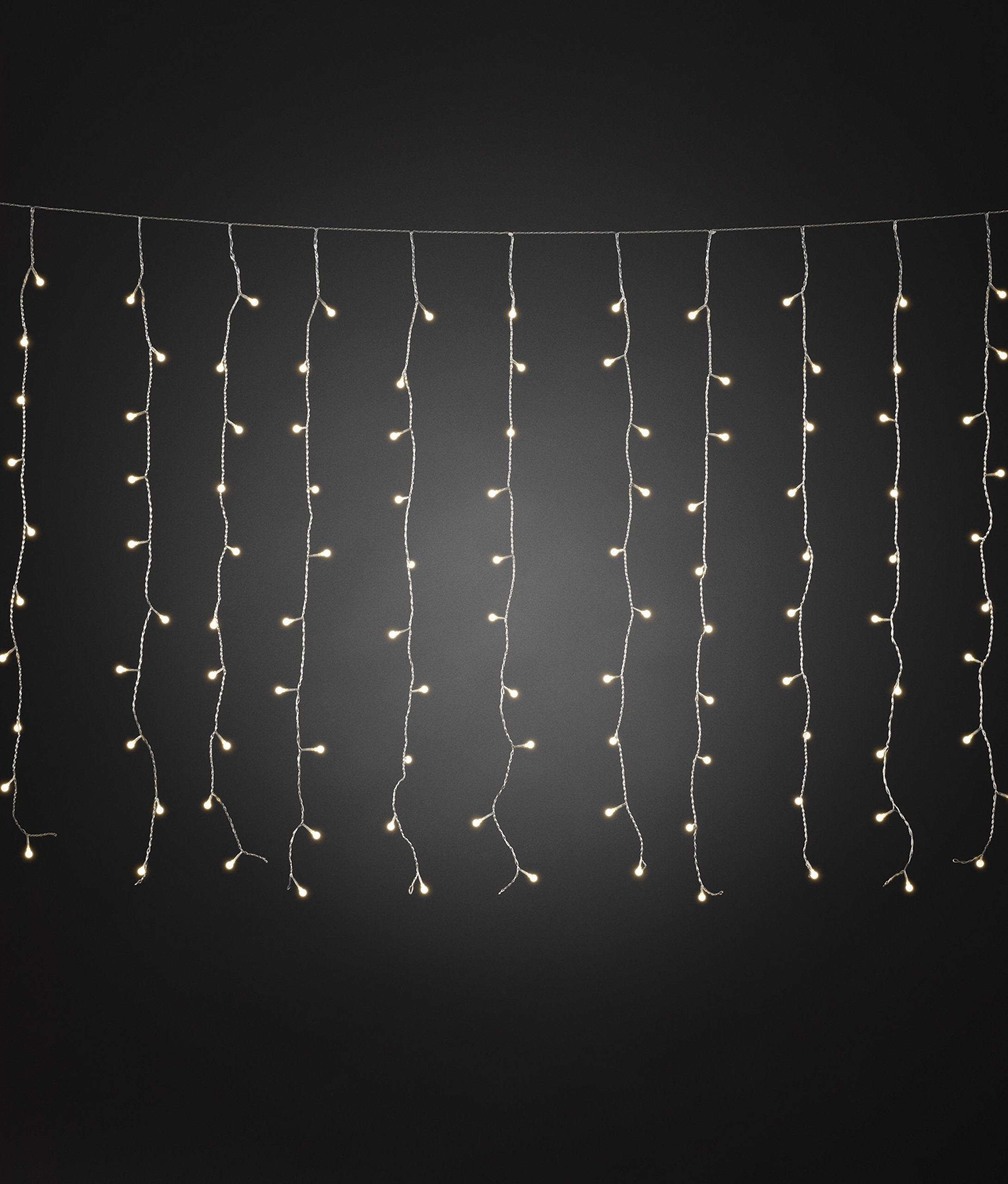 Konstsmide-3675-103-LED-Eisregen-Lichtervorhang-mit-weien-Globes-fr-Auen-IP44-24V-Auentrafo-400-warm-weie-Dioden-transparentes-Kabel