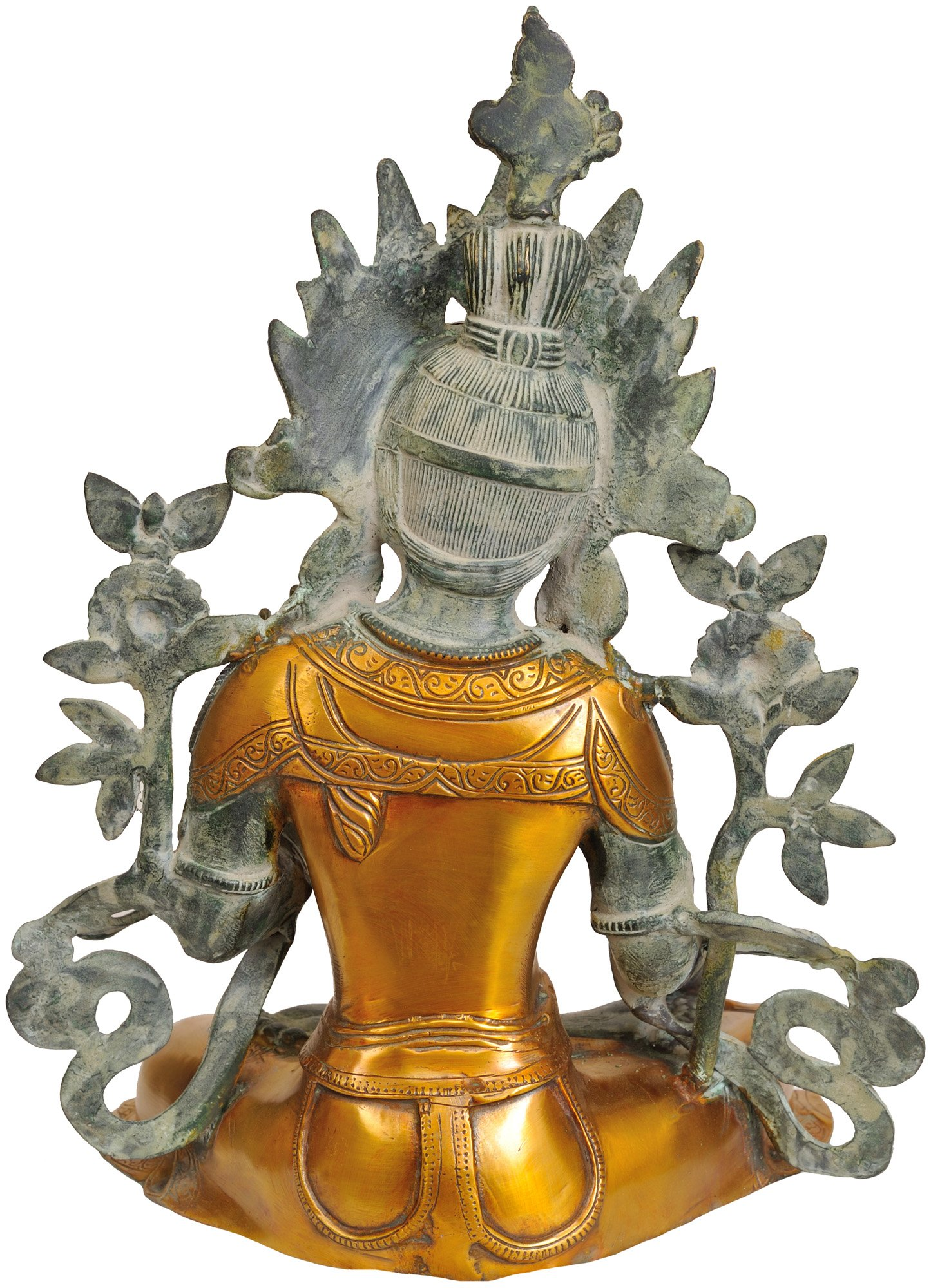 Exotic-India-Dual-Tone-White-Tara-Brass-Statue