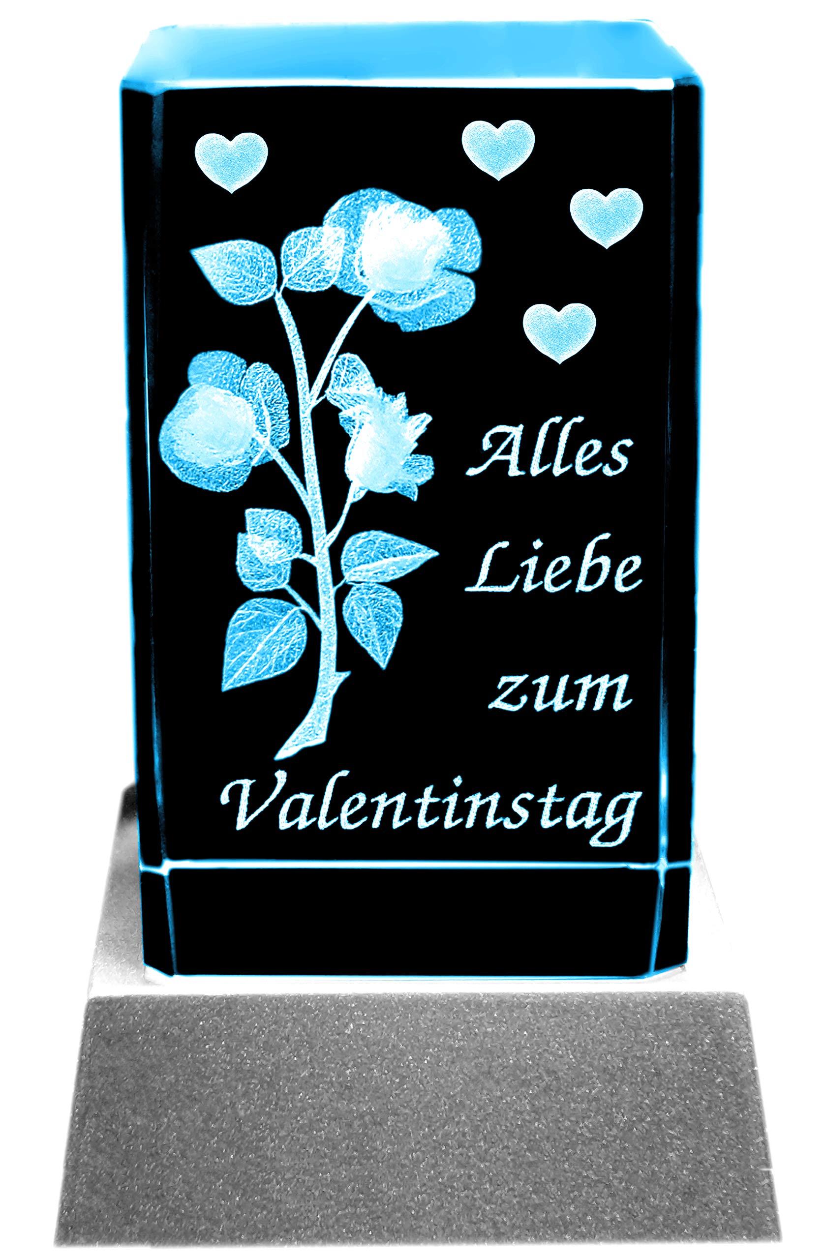 Kaltner-Prsente-Stimmungslicht-Ein-ganz-besonderes-Geschenk-LED-KerzeKristall-Glasblock-3D-Laser-Gravur-Valentin-Motiv-Rose-ALLES-LIEBE-ZUM-VALENTINSTAG