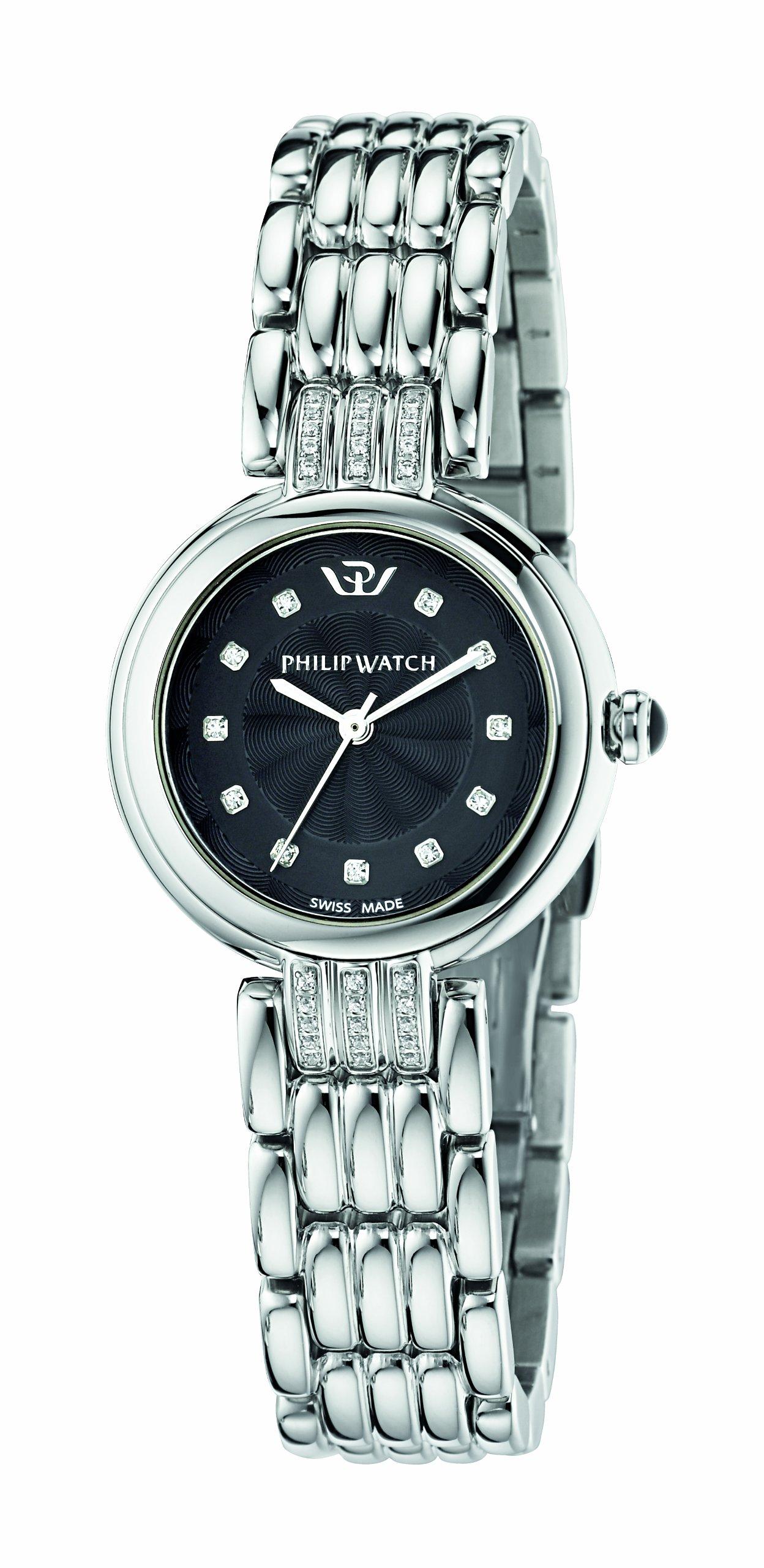 Philip-Watch-Damen-Armbanduhr-GINEVRA-Analog-Quarz-Edelstahl-R8253491506