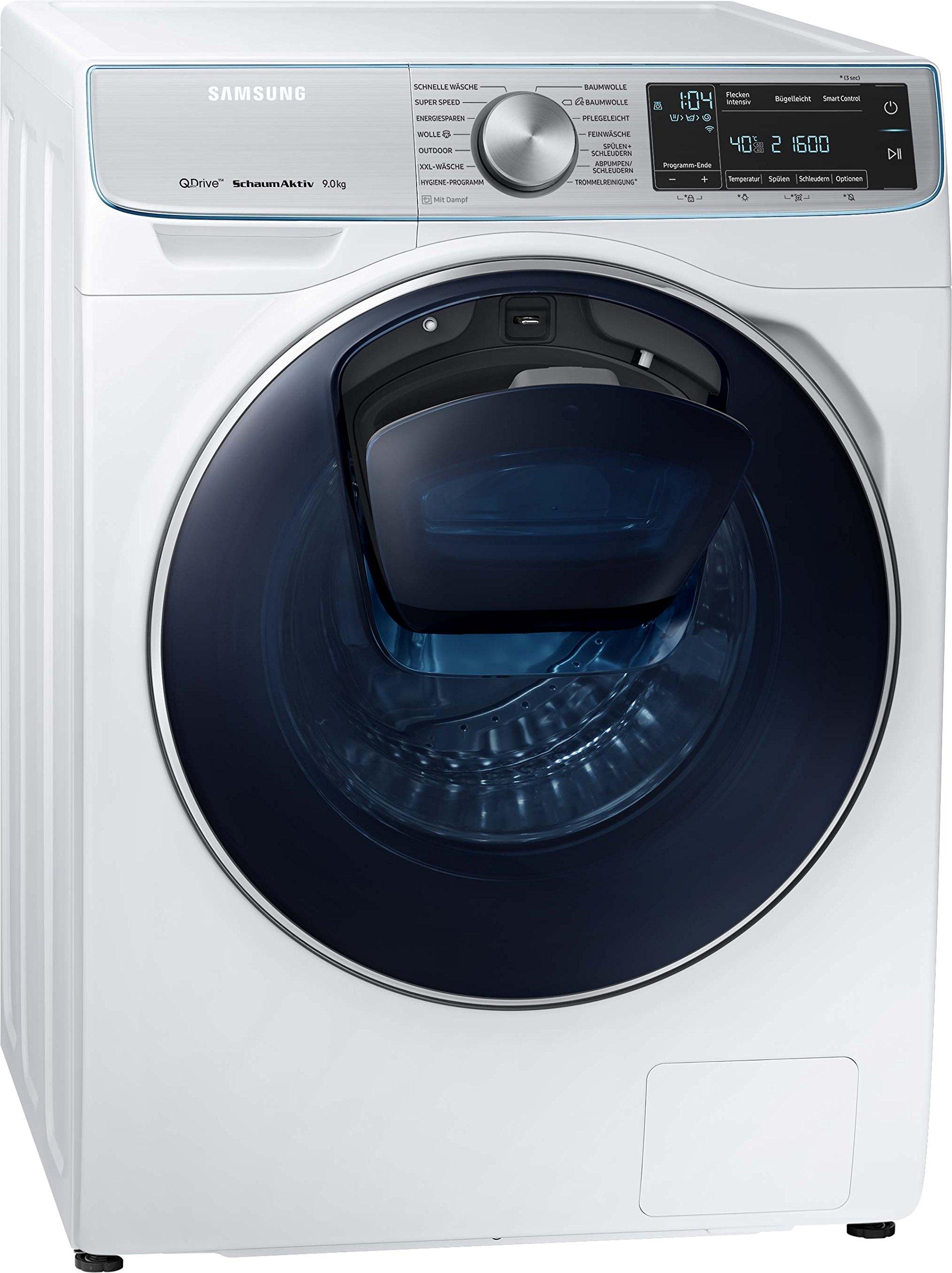 Samsung-WW7800-WW91M760NOAEG-QuickDrive-Waschmaschine-A-1400-Umin-9-kg-Wei-AddWash-SchaumAktiv-WifiAmazon-Dash-Replenishment-fhig