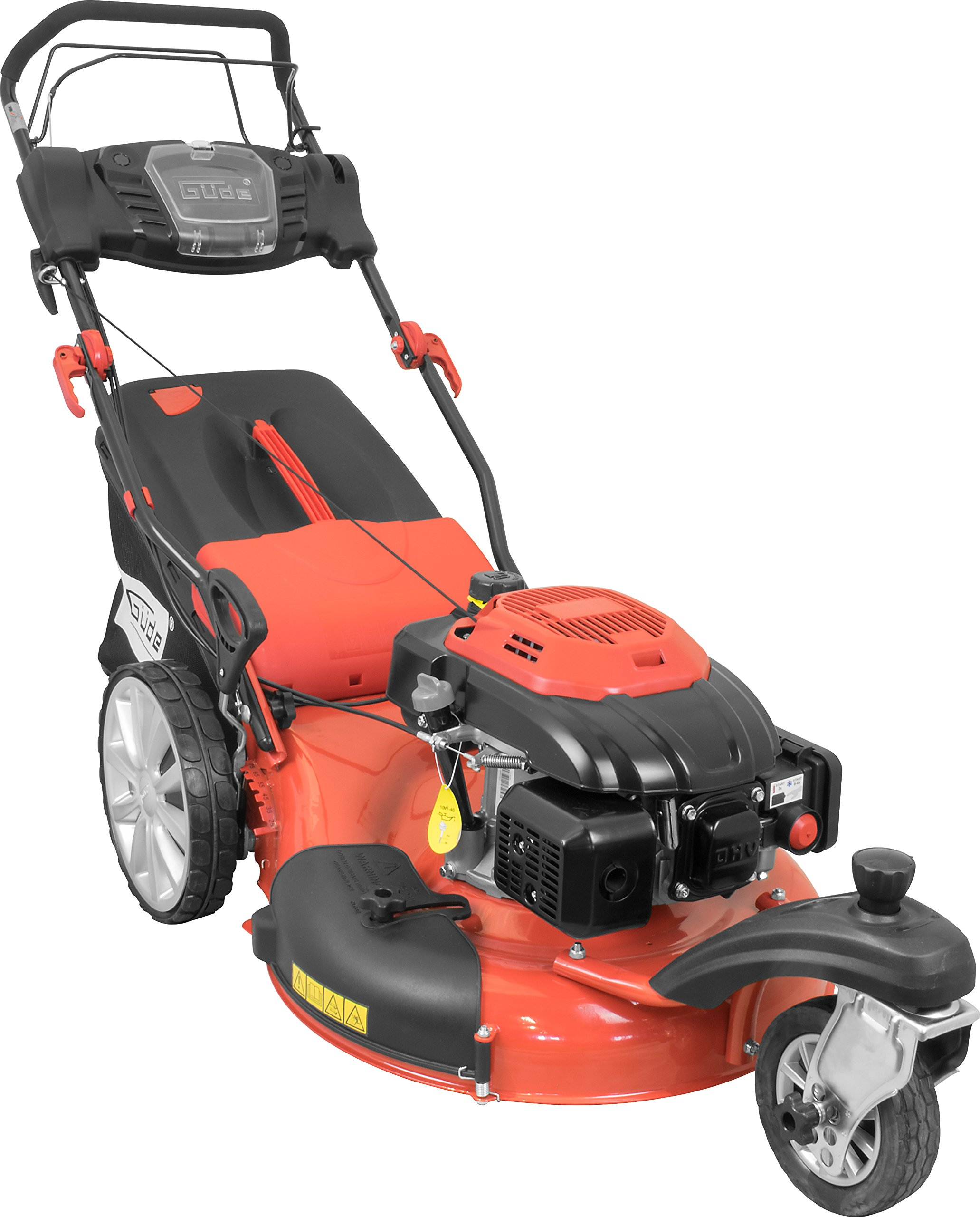 Gde-95420-Big-Wheeler-5541-R-Trike-Benzinrasenmher-Selbstantrieb-55cm-Schnittbreite-35kW-196cc-65l-Grasfangsack
