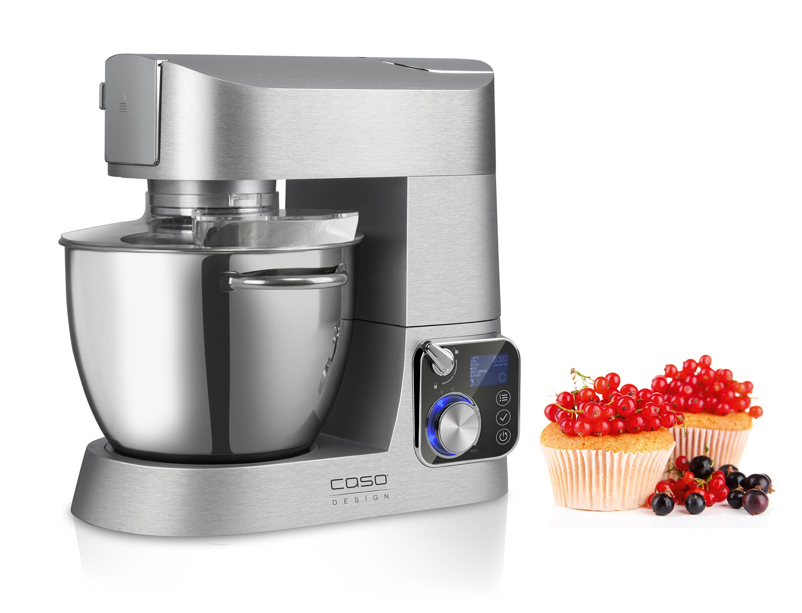 CASO-KM1200-Design-Kchenmaschine-mit-umfangreichem-Zubehr-hochwertiges-Gehuse-aus-Aluminium-Druckguss-1200-Watt-Edelstahl-Rhrschssel-mit-55-Liter-Kapazitt
