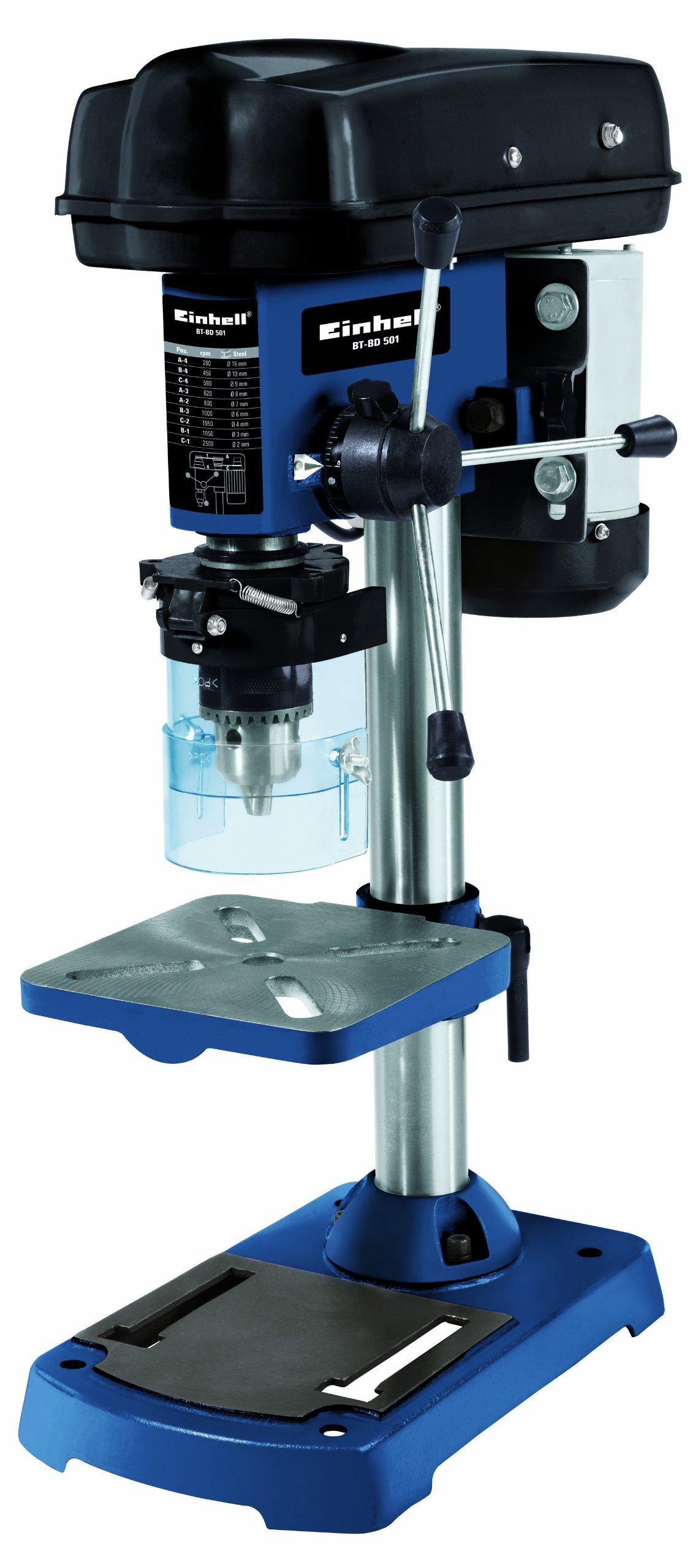 Einhell-Sulenbohrmaschine-BT-BD-501-500-W-Bohr–15-16-mm-Bohrtiefe-50-mm-Drehzahlreglung-stufenlose-Tischhhenverstellung