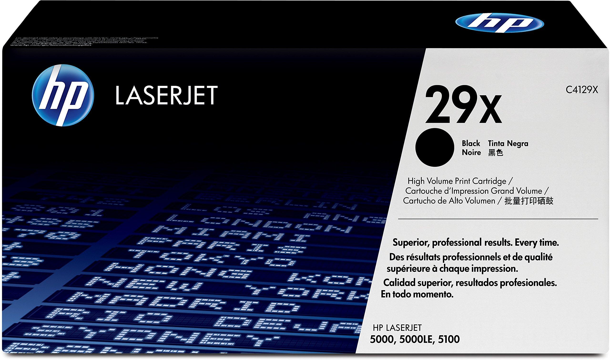 HP-29X-C4129X-Schwarz-Original-Toner-mit-hoher-Reichweite-fr-HP-Laserjet-5100