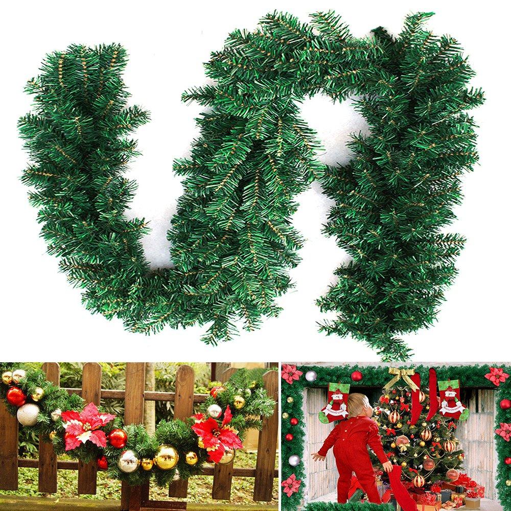 27M-Weihnachtsgirlande-Tannengirlande-Weihnachtsdeko-Efeugirlande-knstliche-Weihnachten-Girlande-Dekorieren-Tannen-Grn-Natur-27M