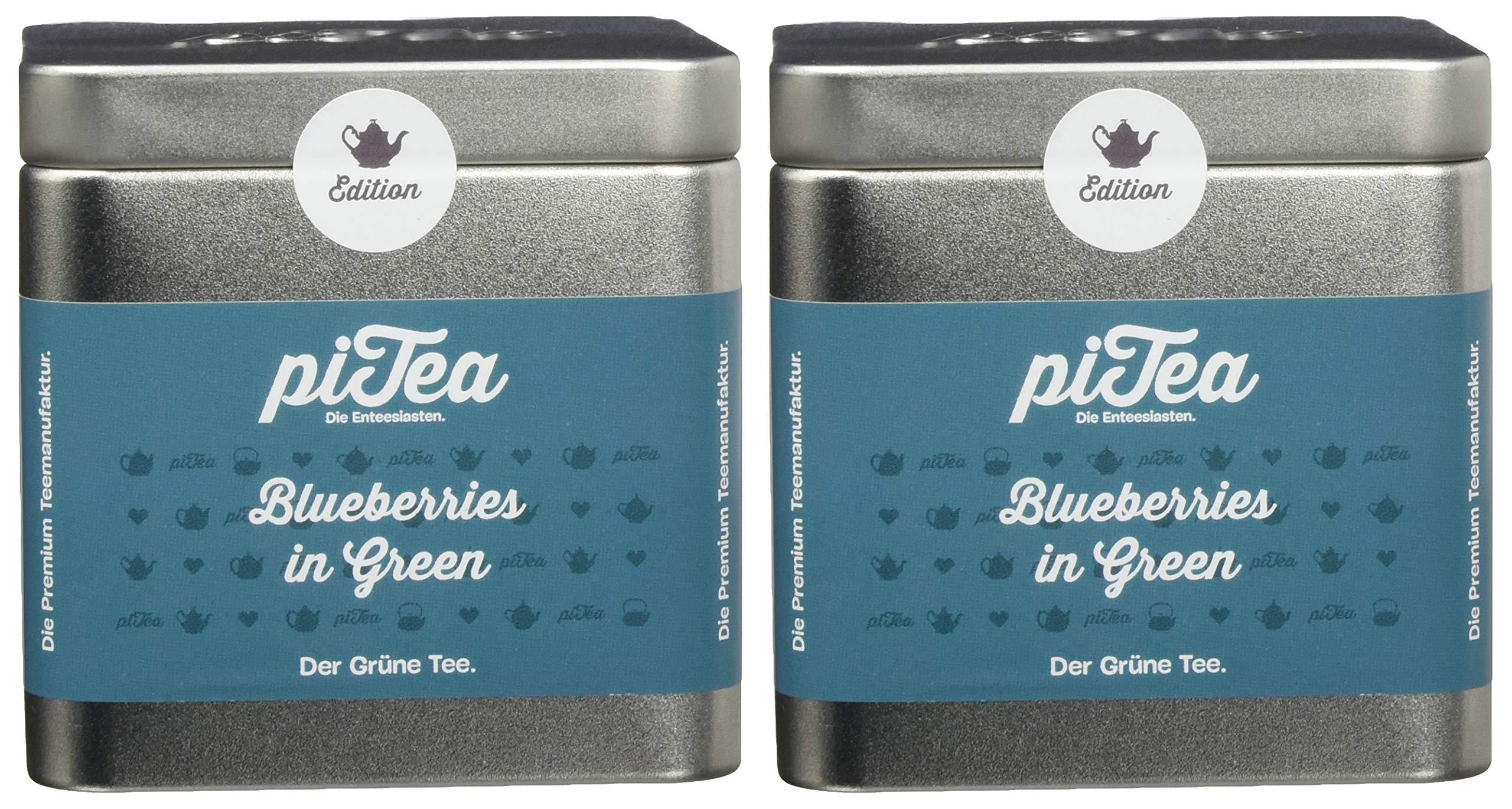 Pi-Tea-Blueberries-in-Green-Dose-Grner-Tee-Teestation-natrlich-und-vegan-2er-Pack-2-x-75-g