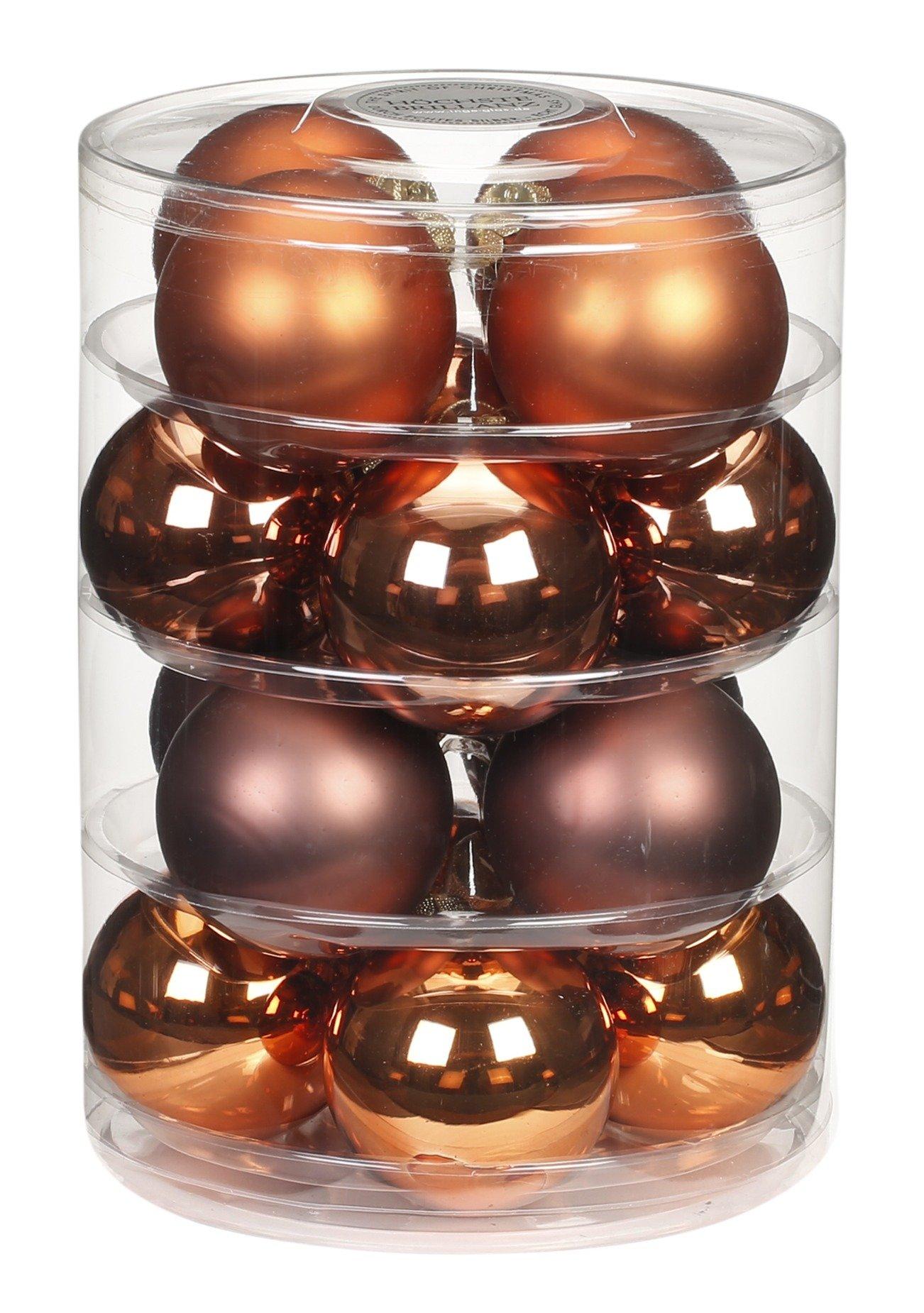 Inge-glas-15183D004-MO-Kugel-16-Stck-75mm-Copper-Brown-Mix-Christbaumaufhnger-Bunt