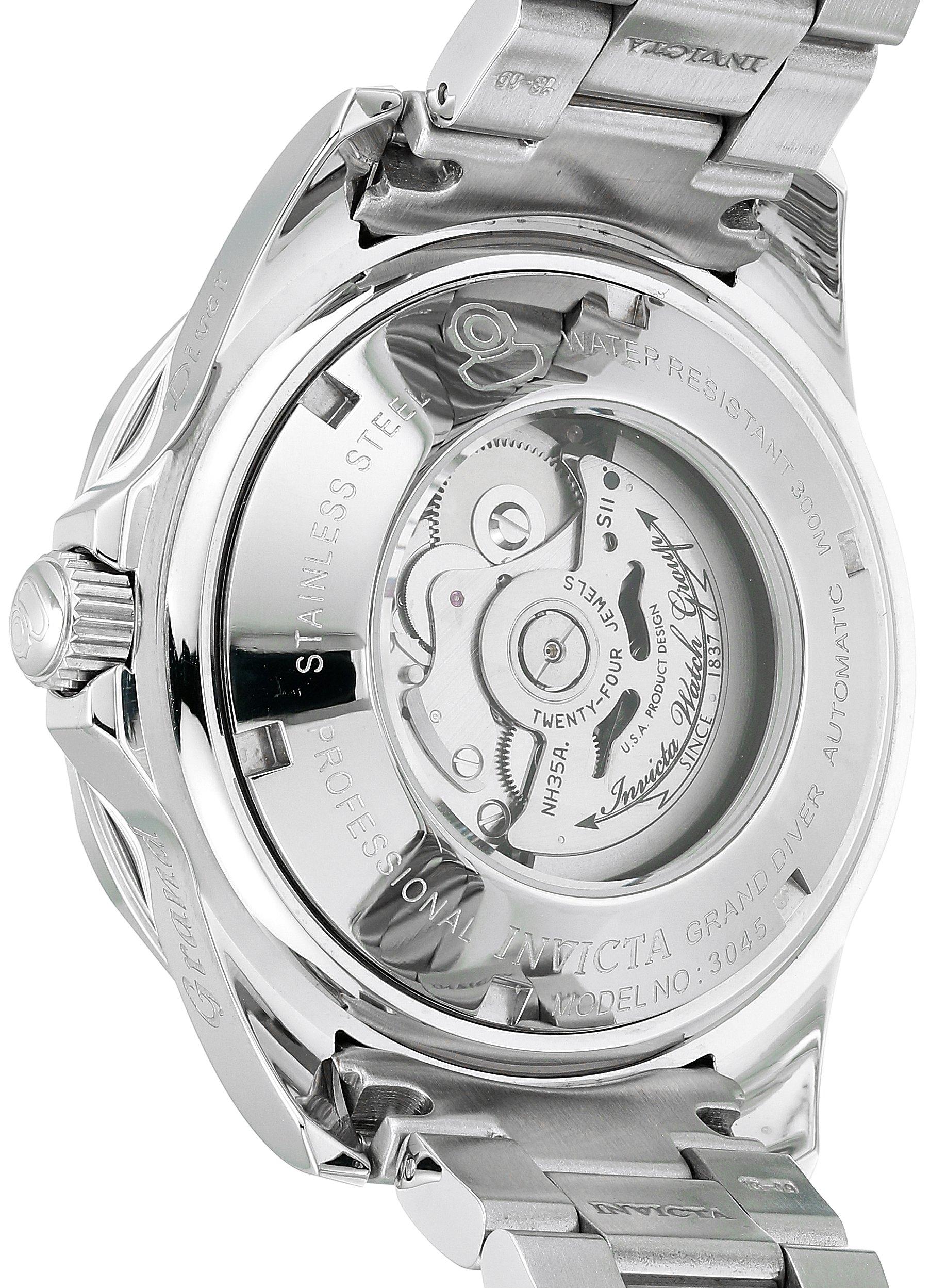 Invicta-3045-Pro-Diver-Herren-Uhr-Edelstahl-Automatik-blauen-Zifferblat