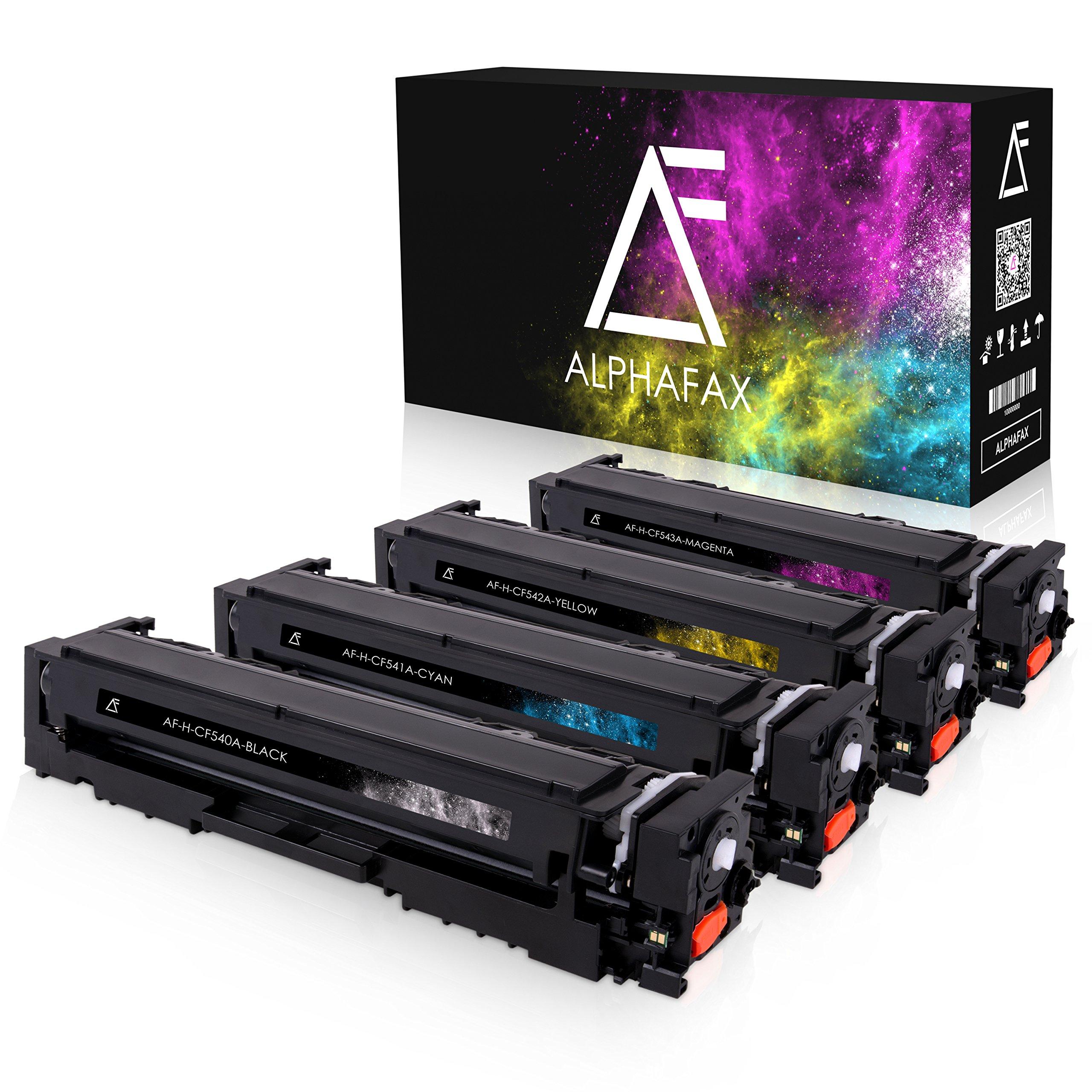 4-Alphafax-Toner-kompatibel-zu-HP-CF540A-CF543A-fr-Color-Laserjet-Pro-M-280nw-M-281fdn-M-281fdw-M-254nw-M-254dw-203A