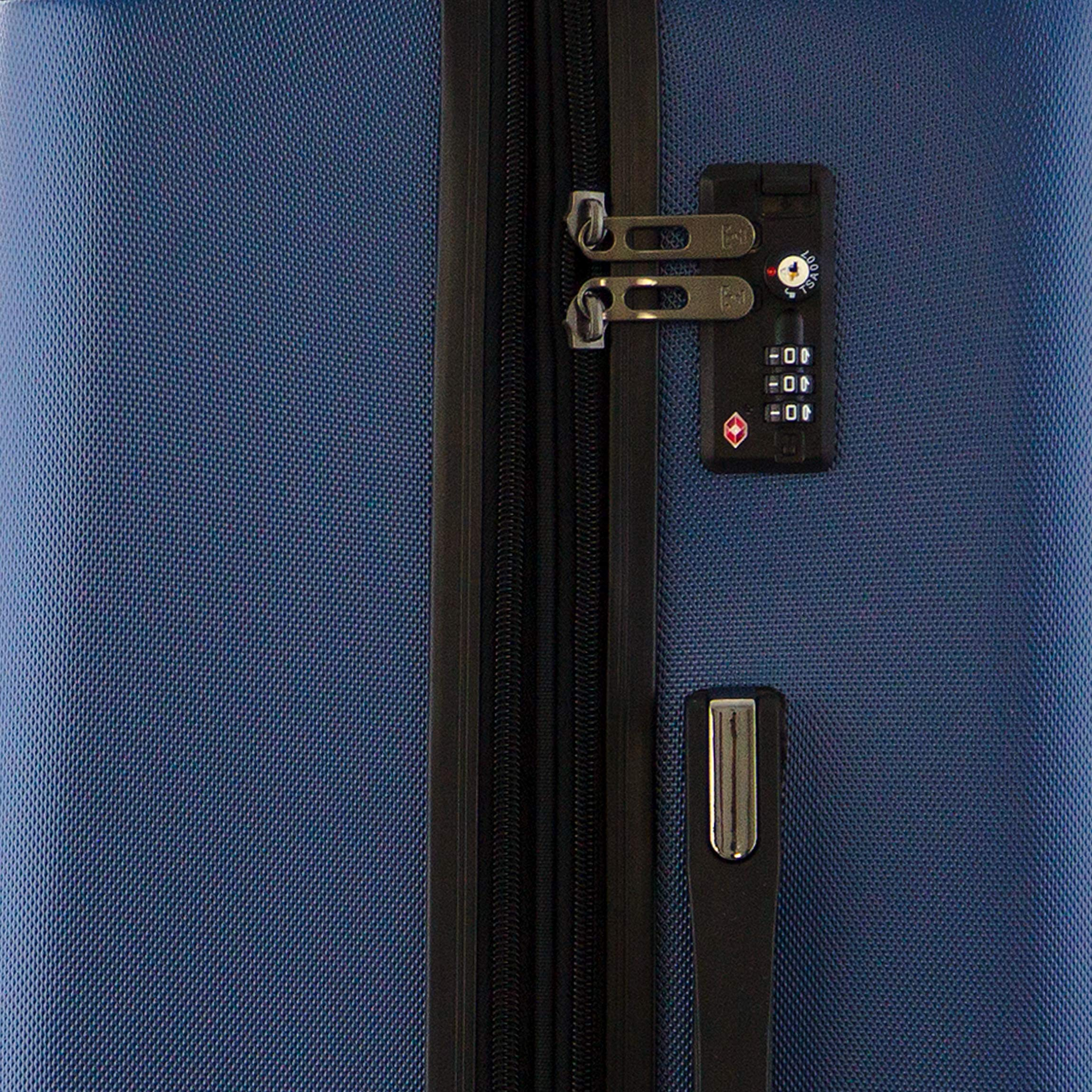 66 cm 78.0 Liter Dunkelblau Happy Trolley Lugano Koffer-Set