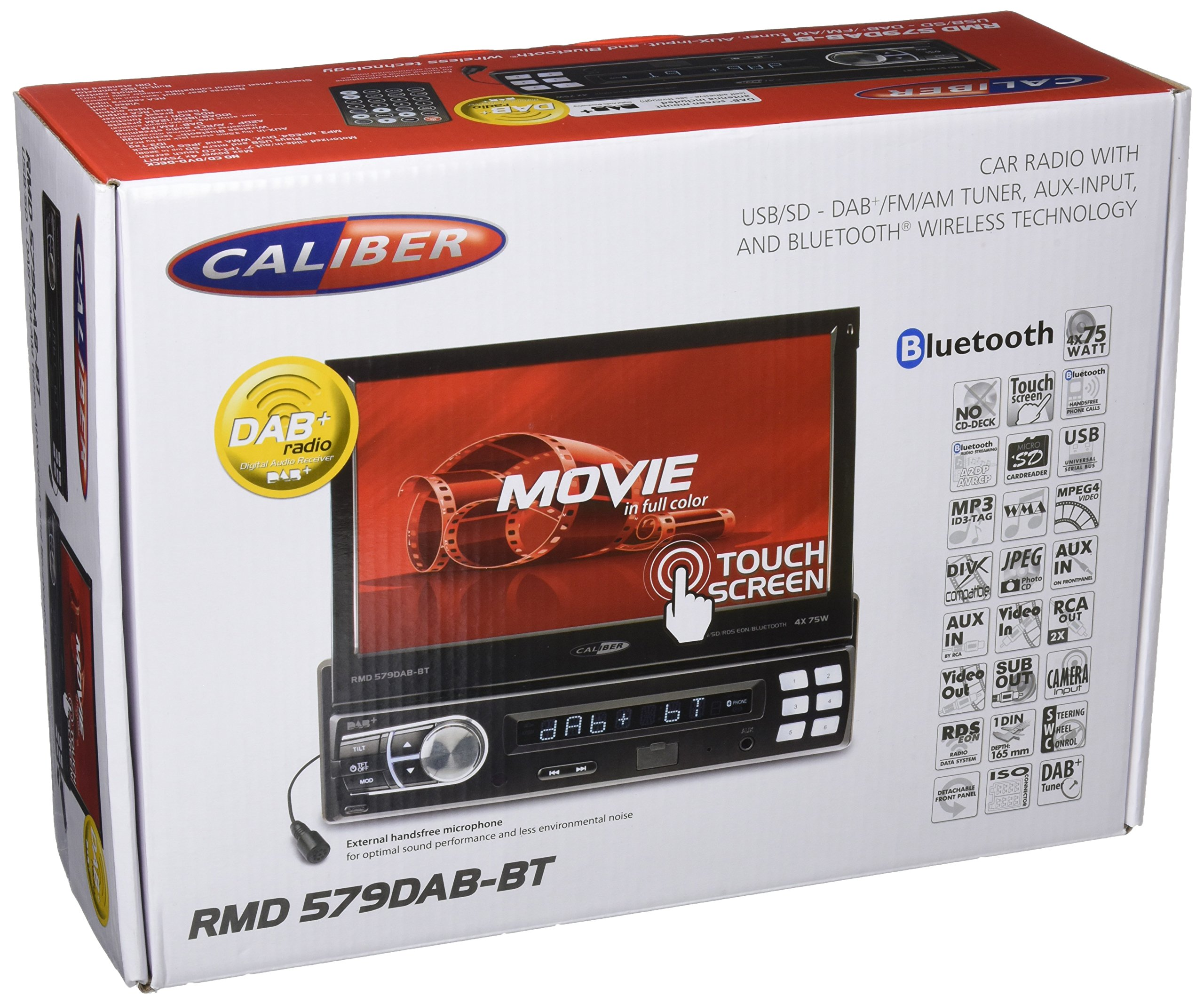 Caliber-RMD579DAB-BT-1DIN-Moniceiver-Touchpanel-1778-cm-7-Zoll-Schwarz