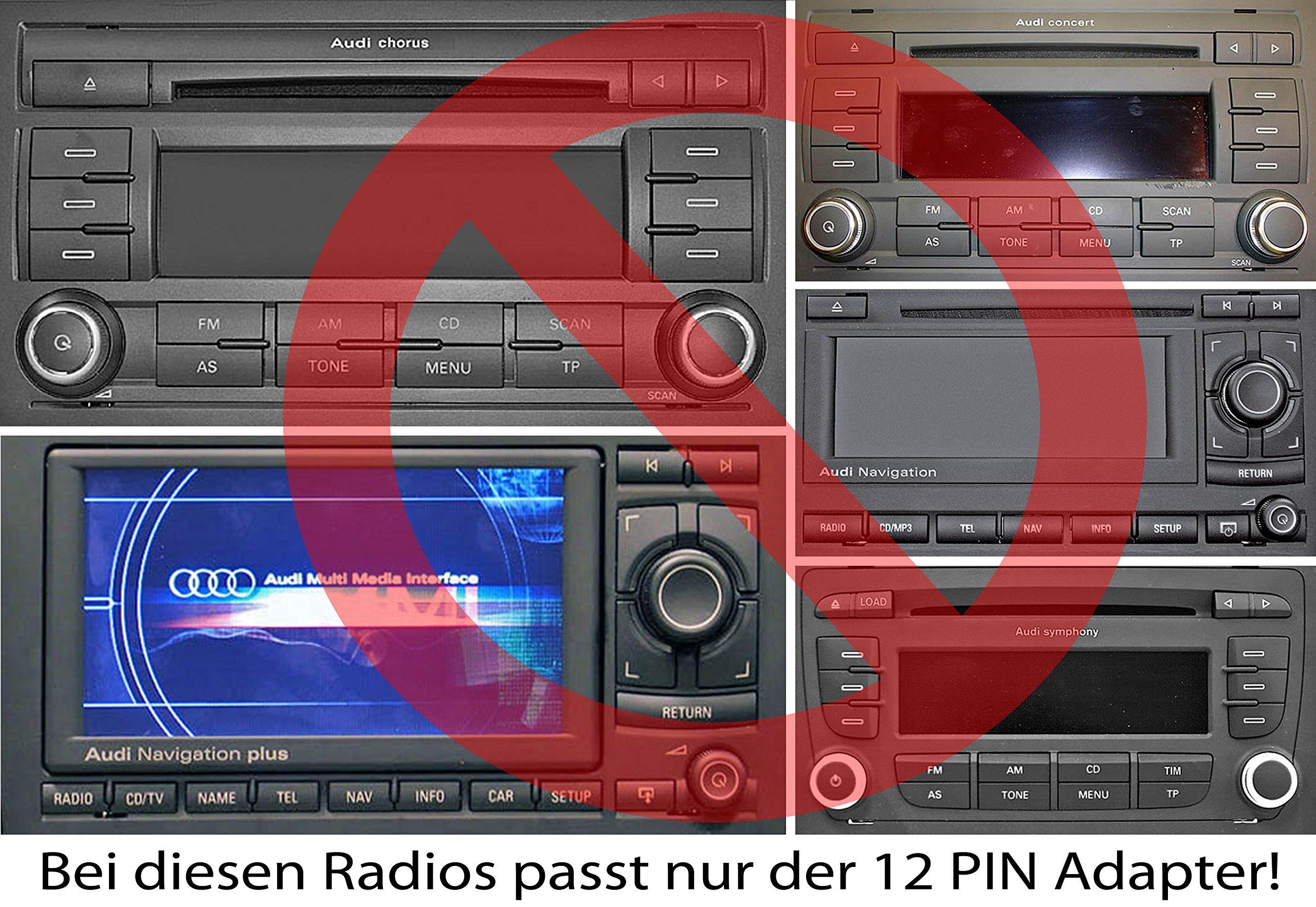 USB-SD-AUX-MP3-Adapter-fr-Audi-mit-den-Radio-Chorus-2-Concert-12-Symphony-12-Navigation-Plus-12