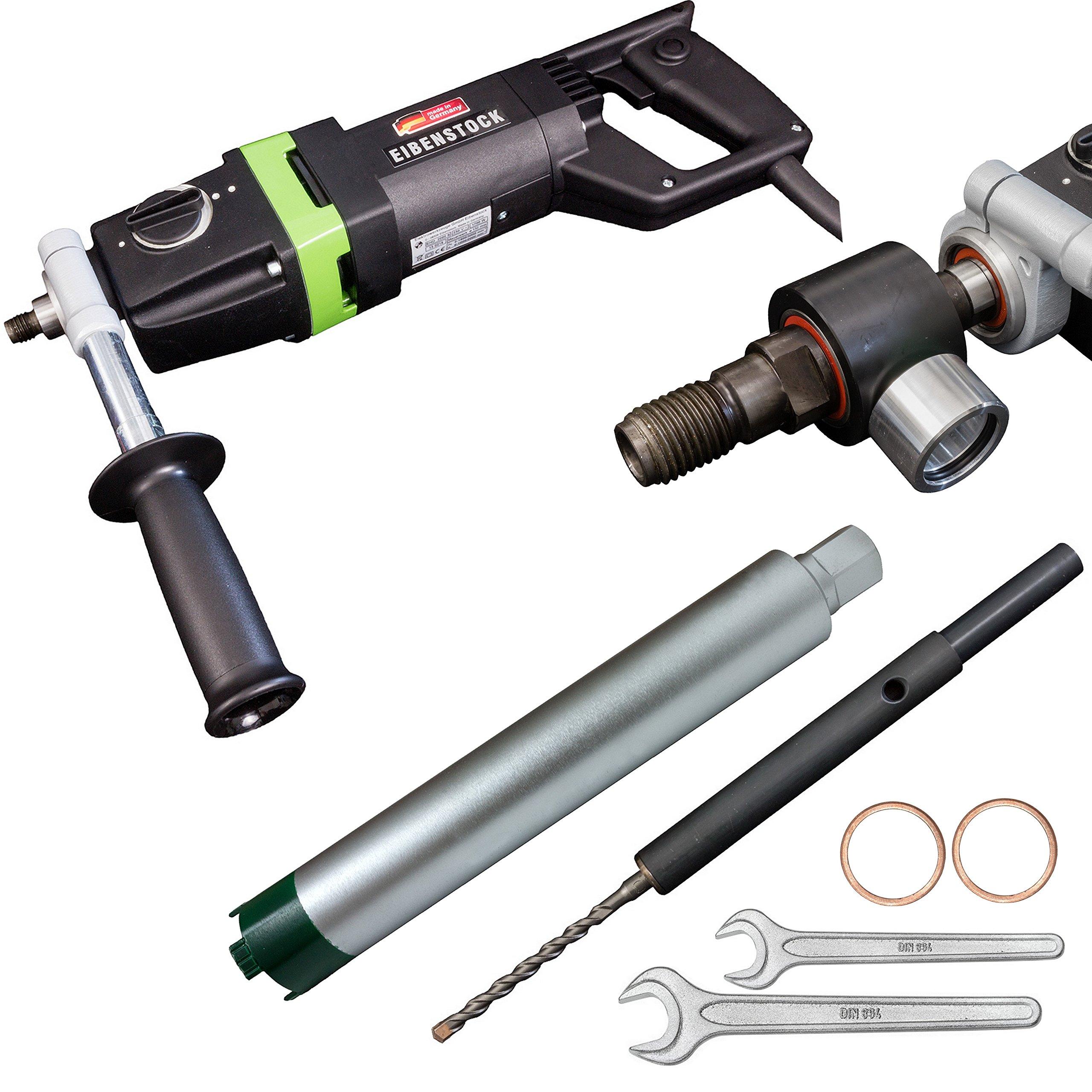 Eibenstock-Trocken-Kernbohrmaschine-EHD-2000-S-inklusive-Diamant-Trocken-Bohrkrone-Staubabsaugung-Zentrierbohrer-Zubehr