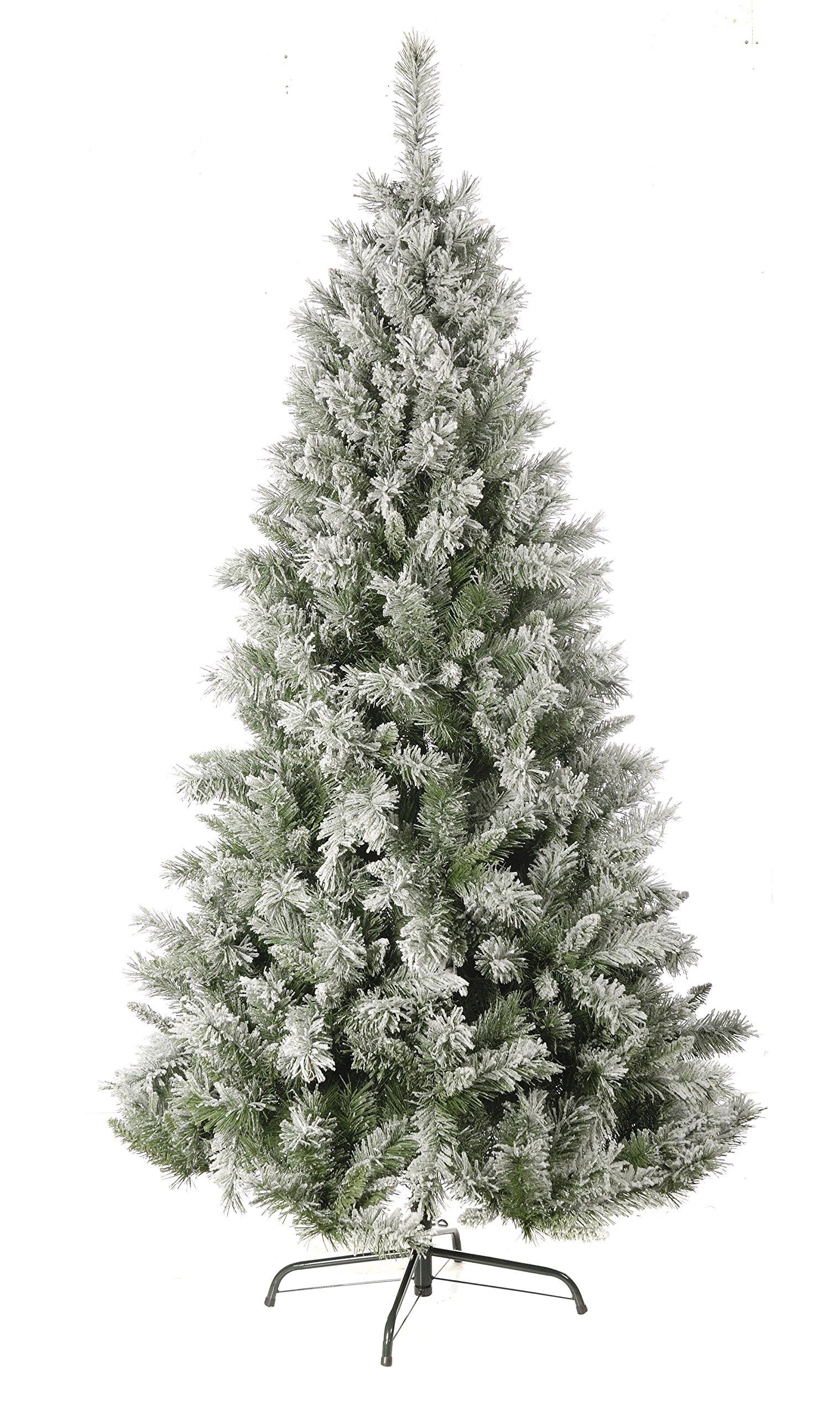 Festive-beflockter-Tannenbaum