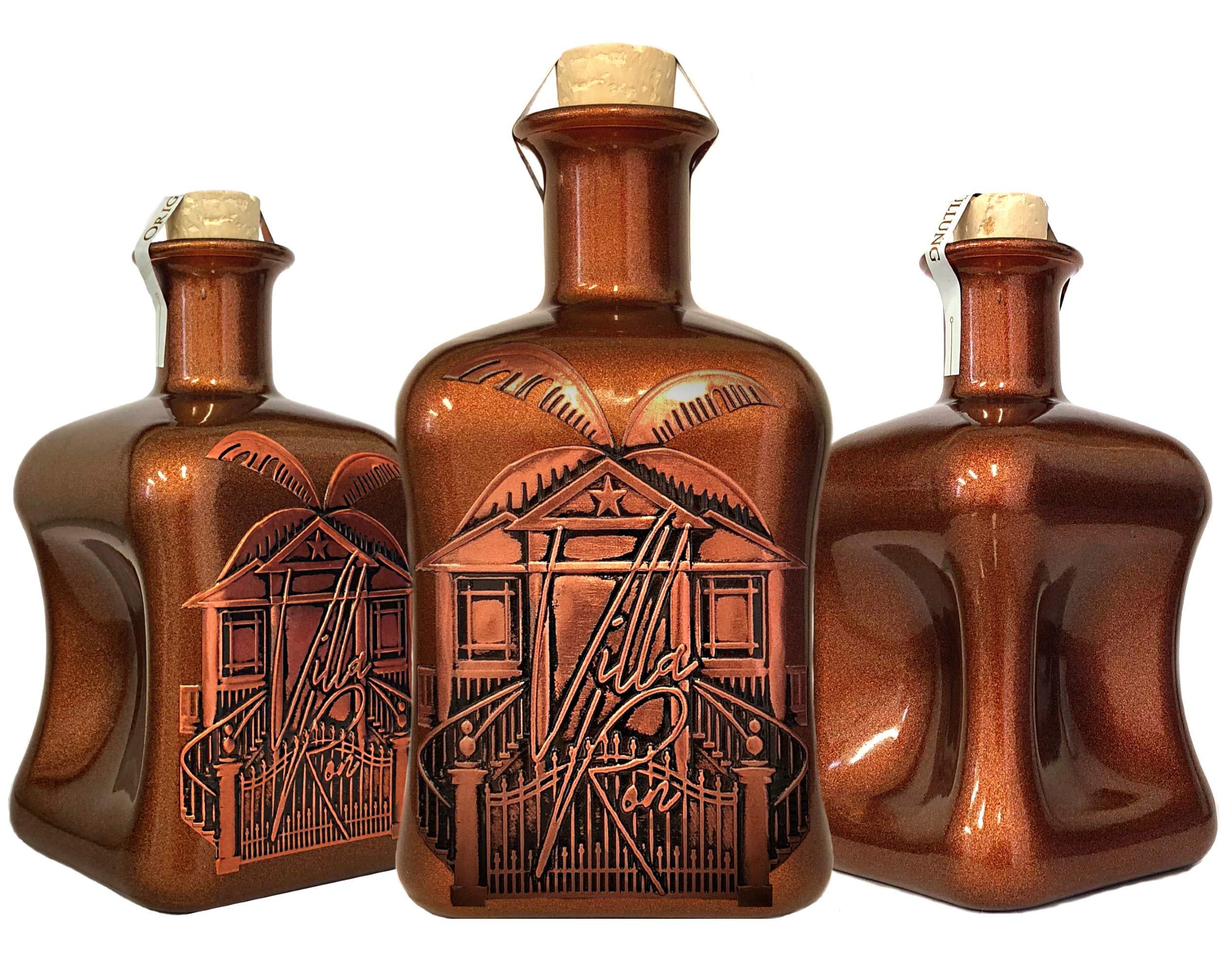 Villa-Ron-Luxus-Spiced-Rum-Spirituose-aus-der-Karibik-Barbados-limitiert-auf-1250-Flaschen-aus-kleiner-Edelmanufaktur-in-kupfer-3D-Geschenk-TOP-Qualitt