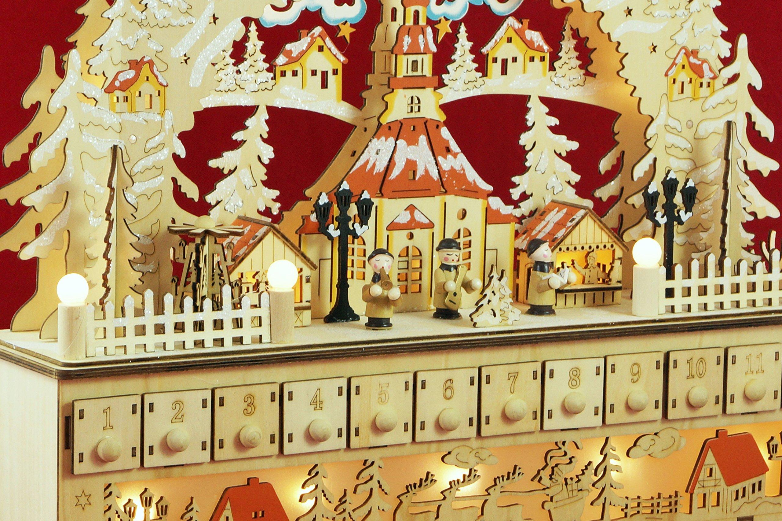 Wichtelstube-Kollektion-XL-LED-Schwibbogen-mit-Adventskalender-Seiffener-Kirche-Lichterbogen-Schwippbogen-Erzgebirge