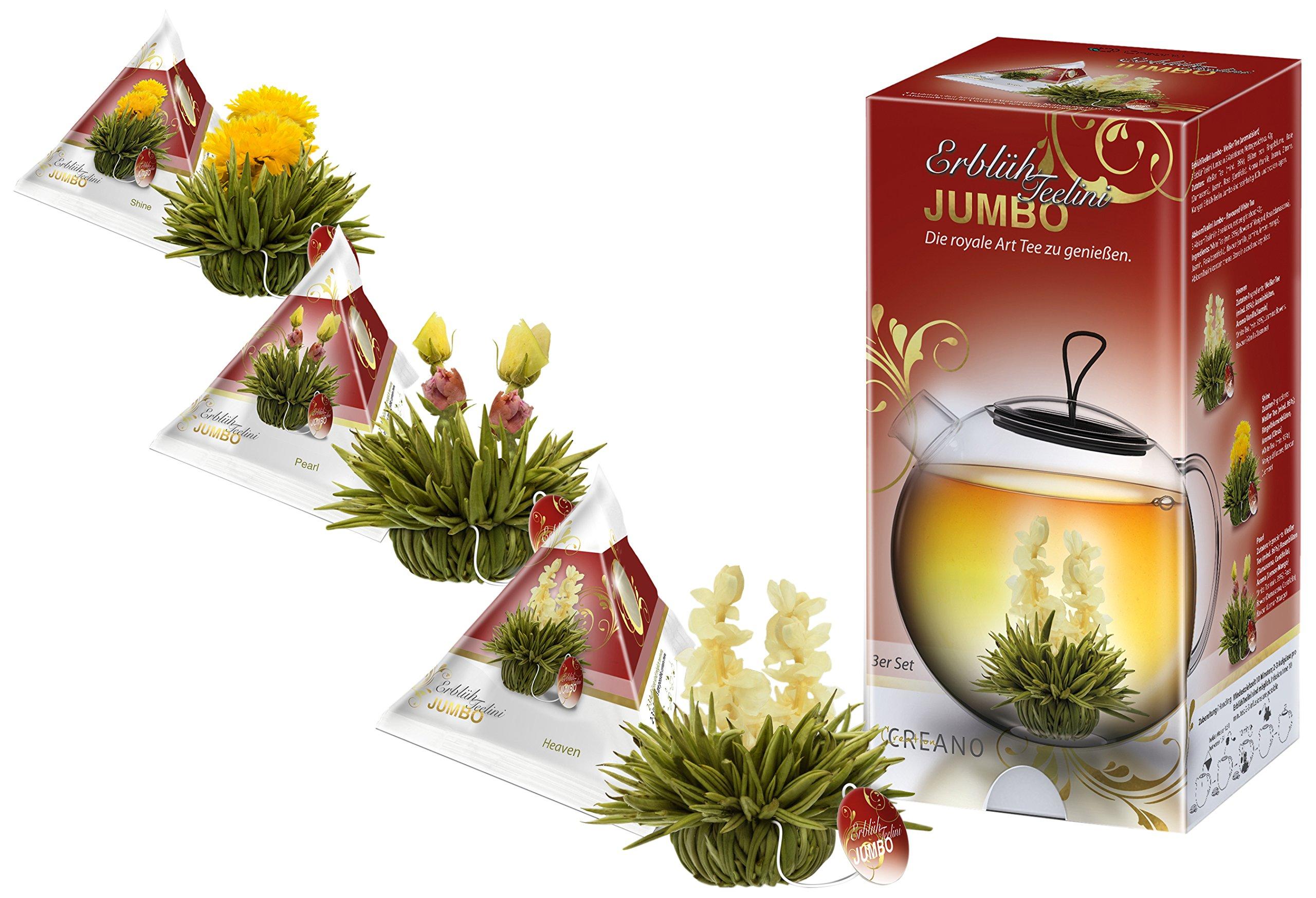 Creano-XXL-Teeblumen-Set-ErblhTeelini-Jumbo-in-3-verschiedenen-Sorten-Weier-Tee