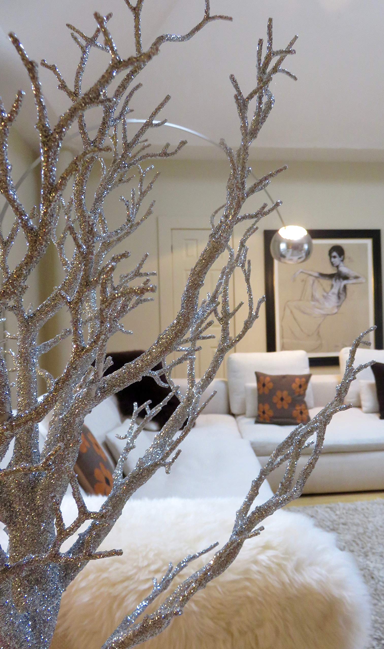 Unbekannt-Link-Products-Manzanita-Baum-glitzernd-fr-den-Innenbereich-silberfarben-Inklusive-20-LED-Lichterketten-Hhe-75-cm