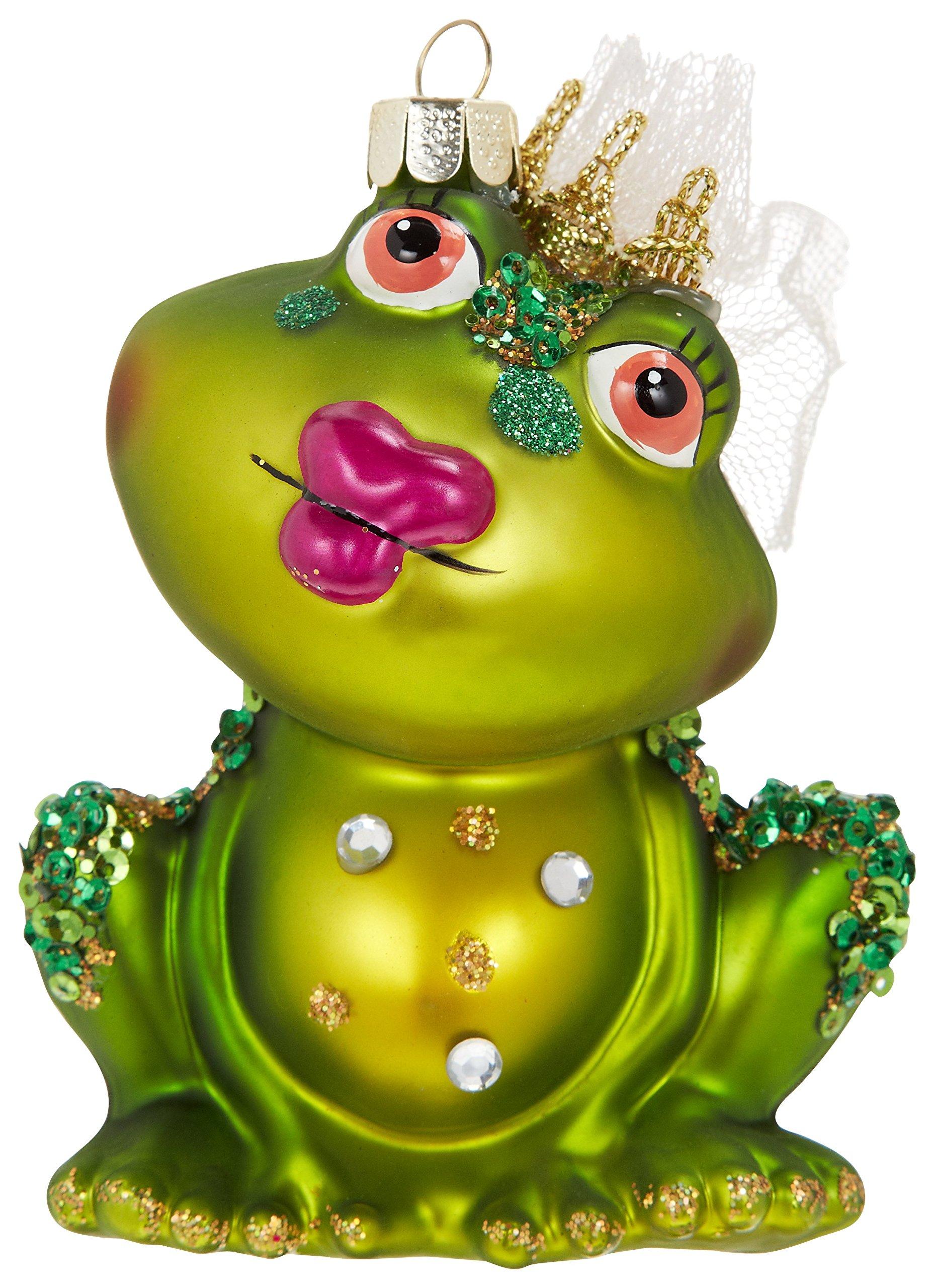 Gift-Company-Hnger-Frosch-Dame-sitzend-mit-Knutschmund