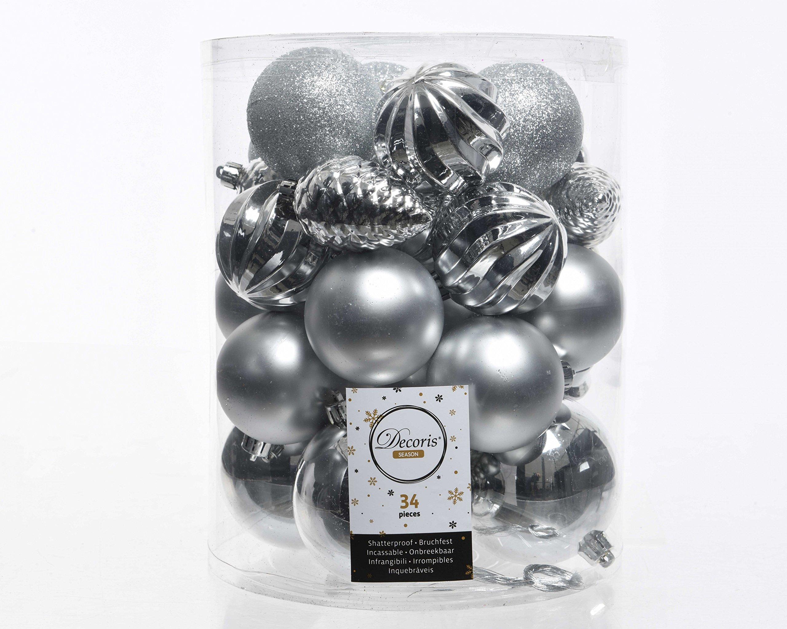 34er-Set-Kugelmix-PVC-mit-Weihnachtskugeln-Baumschmuck-bruchfest-Christbaumschmuck-Deko