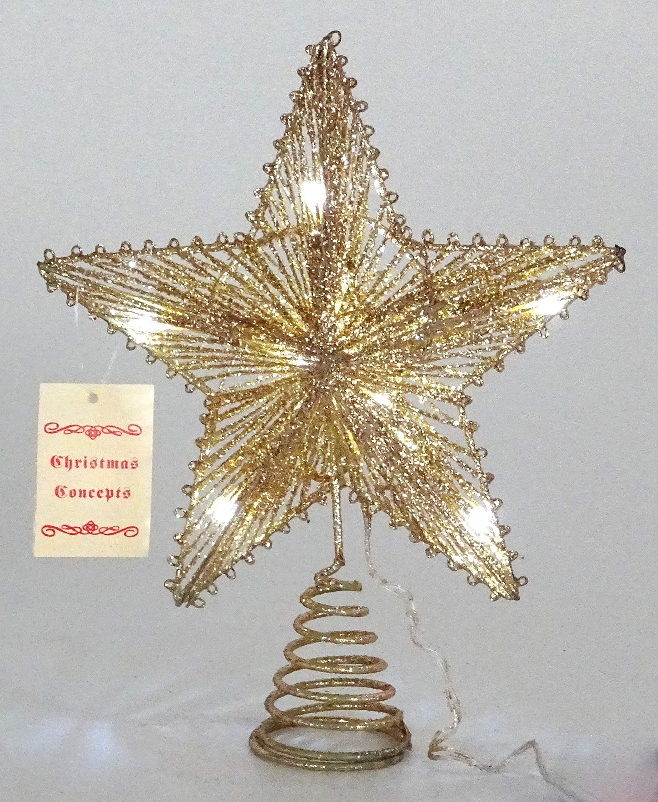 Christmas-Concepts-10Springy-Star-mit-LED-Leuchten-Christbaumspitzen-SternWeihnachtsdekoration