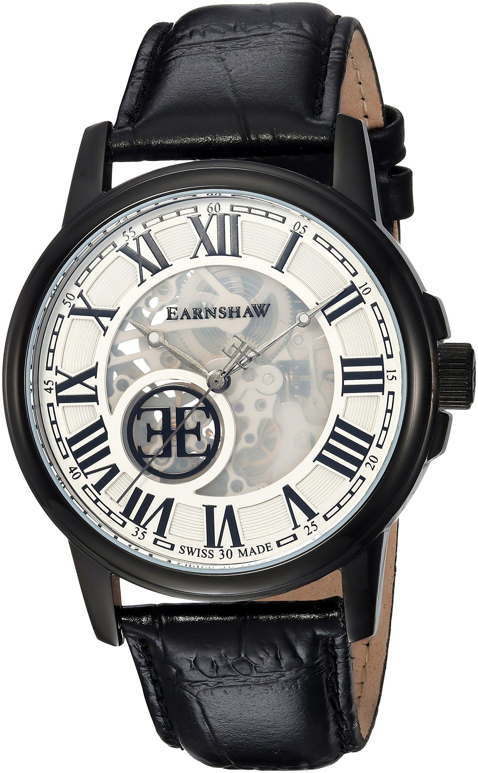 EarnShaw-Beagle-Herren-Armbanduhr-42mm-Leder-Schweizer-Automatik-ES-0028-03