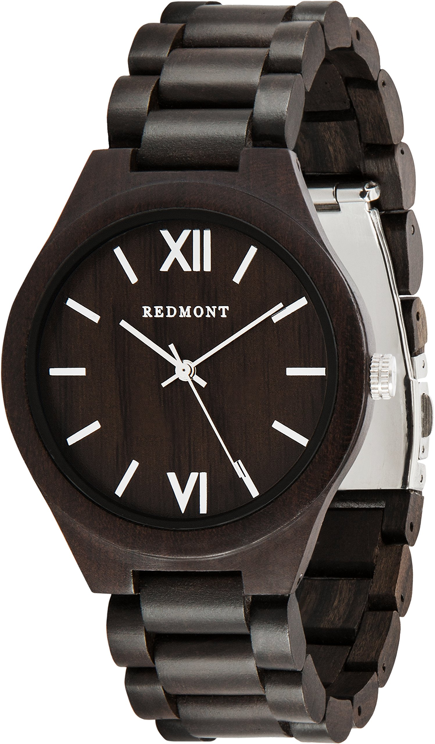REDMONT-Classic-Collection-Herren-Uhr-mit-Holzarmband-Analog-Quarz
