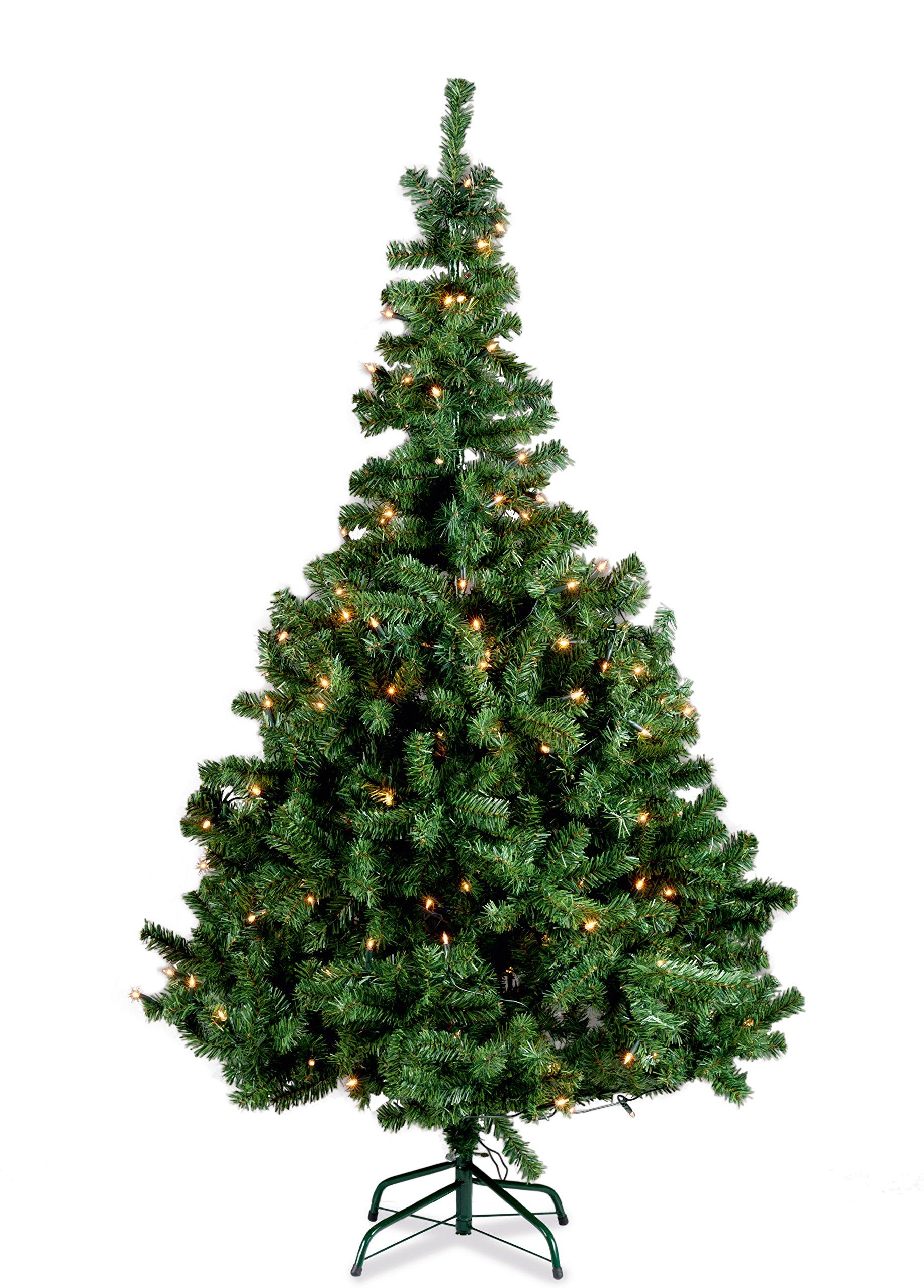 150cm-Weihnachtsbaum-beleuchtet-100-Birnen-inkl-Stnder-Tannenbaum-Baum-Christbaum-10814-AIE
