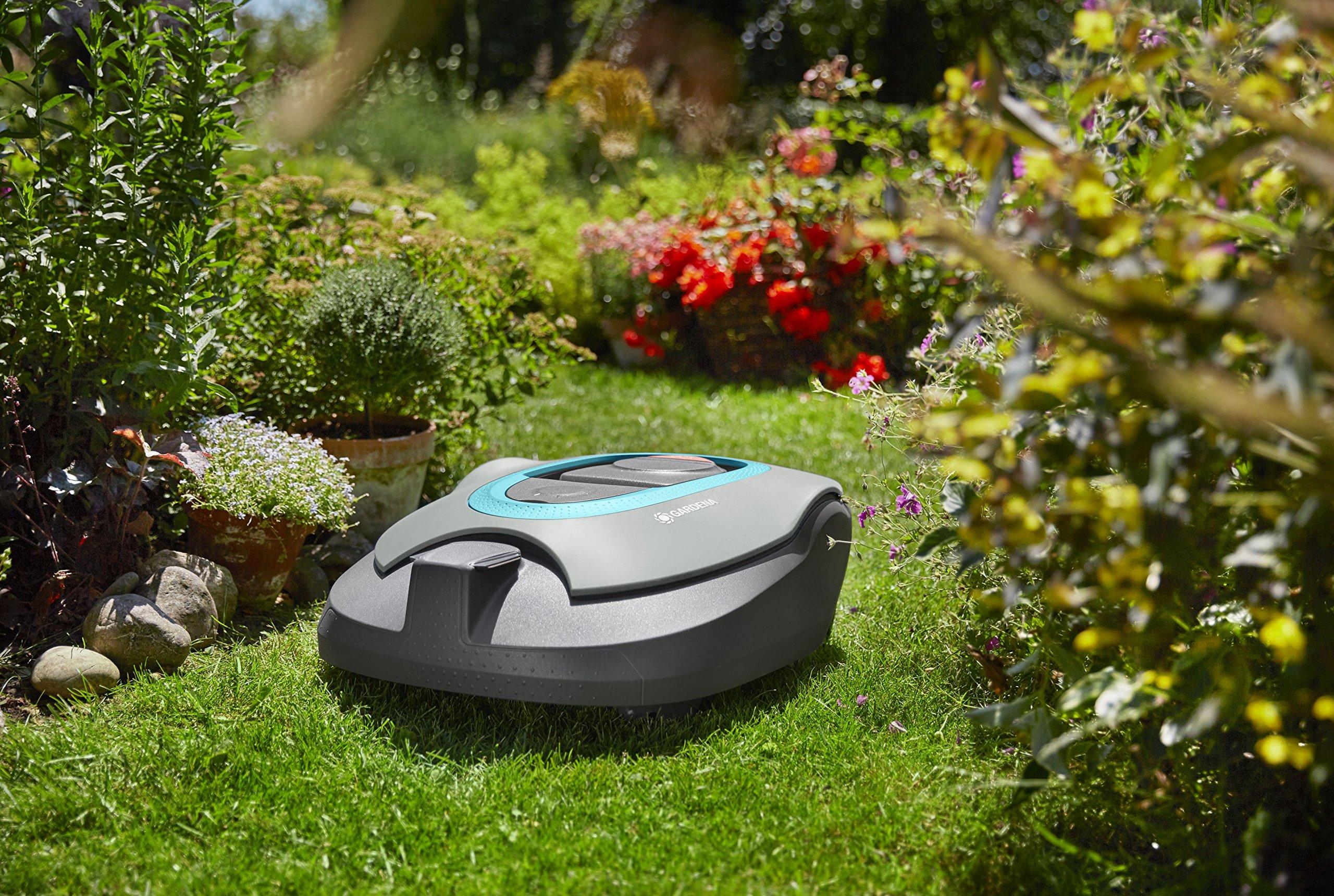 GARDENA-SILENO-Mhroboter-Rasenmher-Roboter-fr-1300-m-Rasenflche-Steigungen-bis-35-Silent-Drive-Motor-bei-Regen-einsetzbar-SensorCut-und-SensorControl-System-4054-60