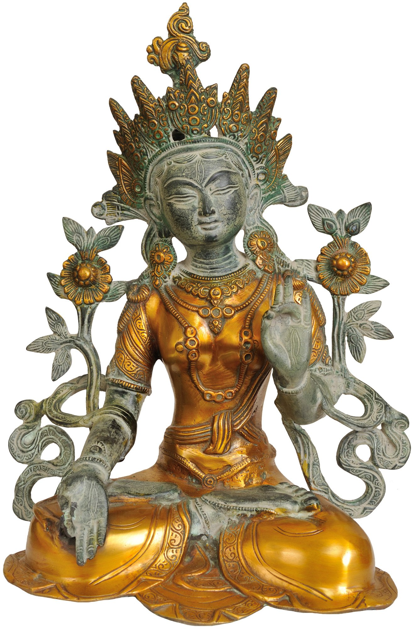 Exotic-India-Dual-Tone-White-Tara-Brass-Statue