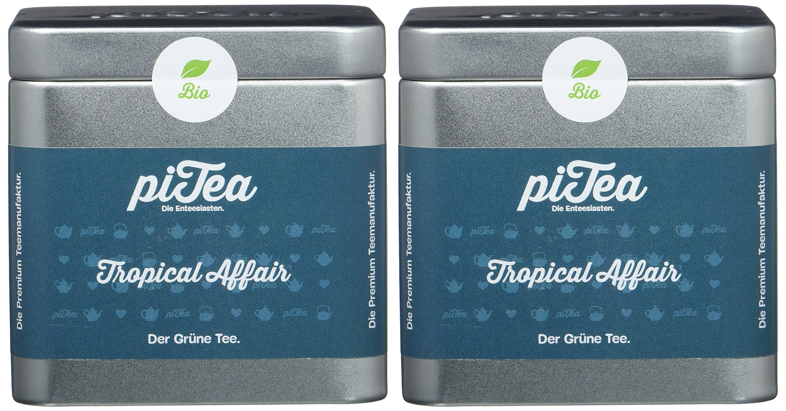 Pi-Tea-Tropical-Affair-Dose-Grner-Tee-Bio-Teestation-natrlich-und-vegan-2er-Pack-2-x-75-g
